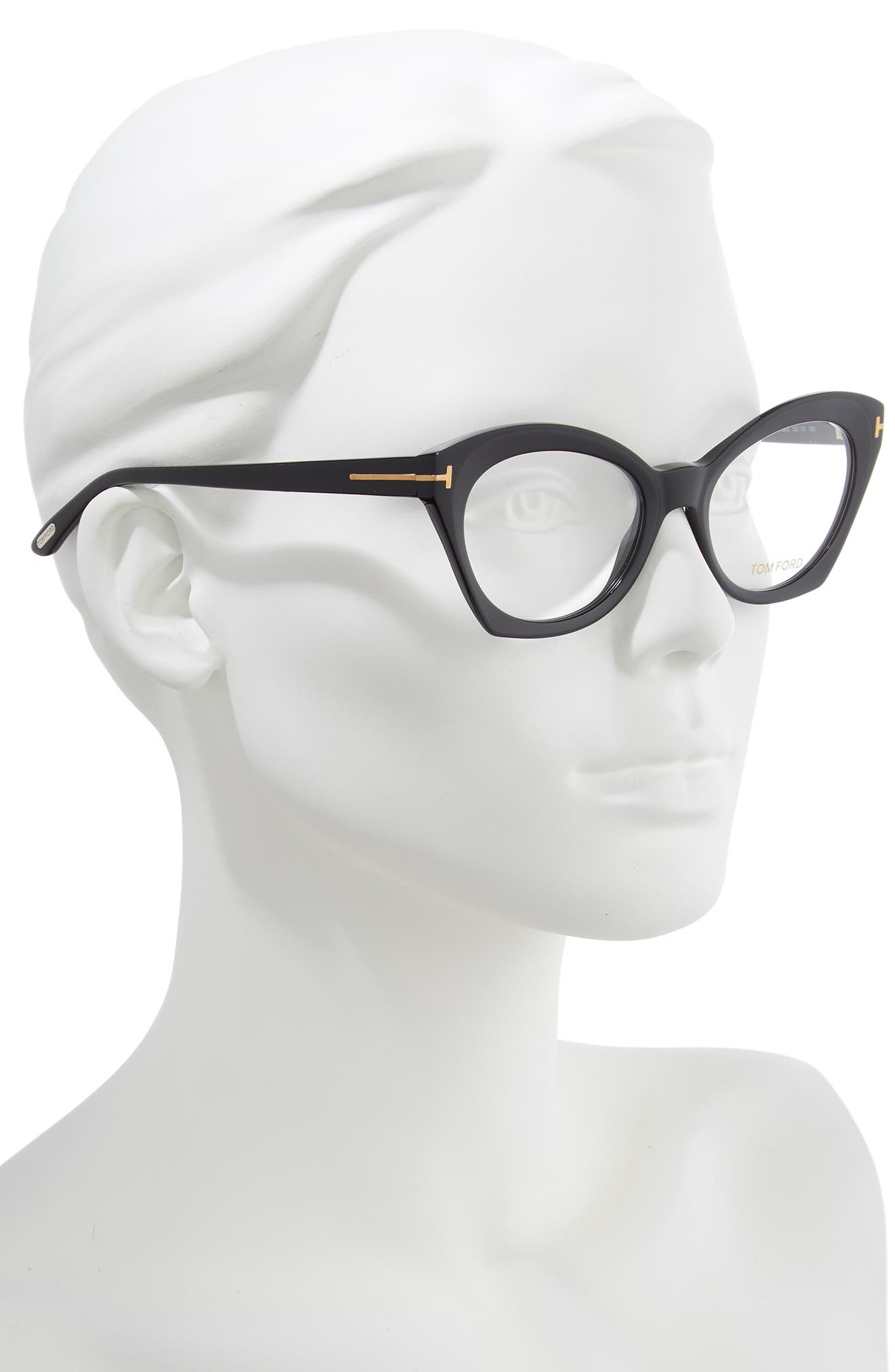 52mm Optical Glasses,                             Alternate thumbnail 2, color,                             SHINY BLACK/ SHINY ROSE GOLD
