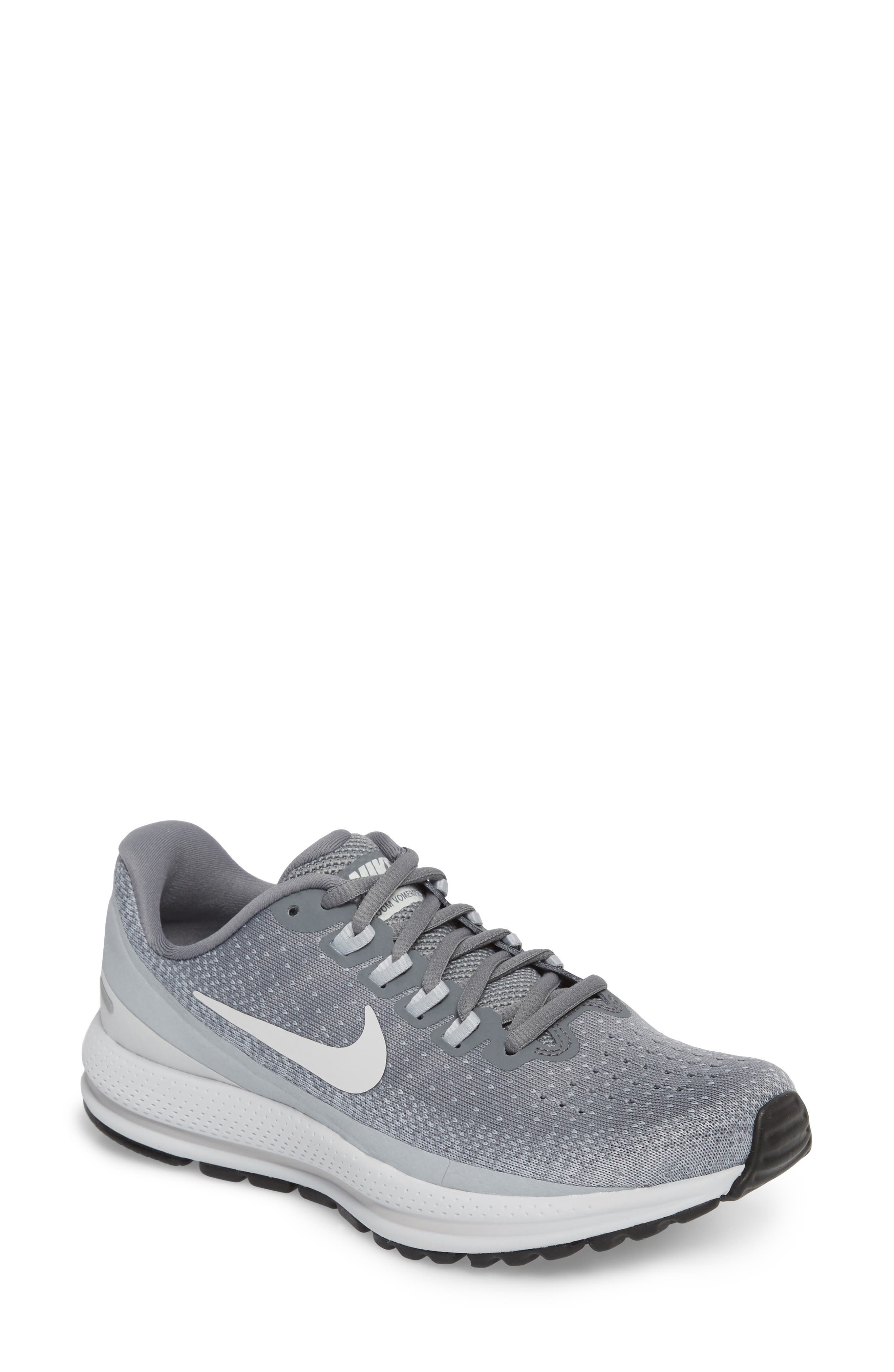Air Zoom Vomero 13 Running Shoe,                         Main,                         color, COOL GREY/ PURE PLATINUM