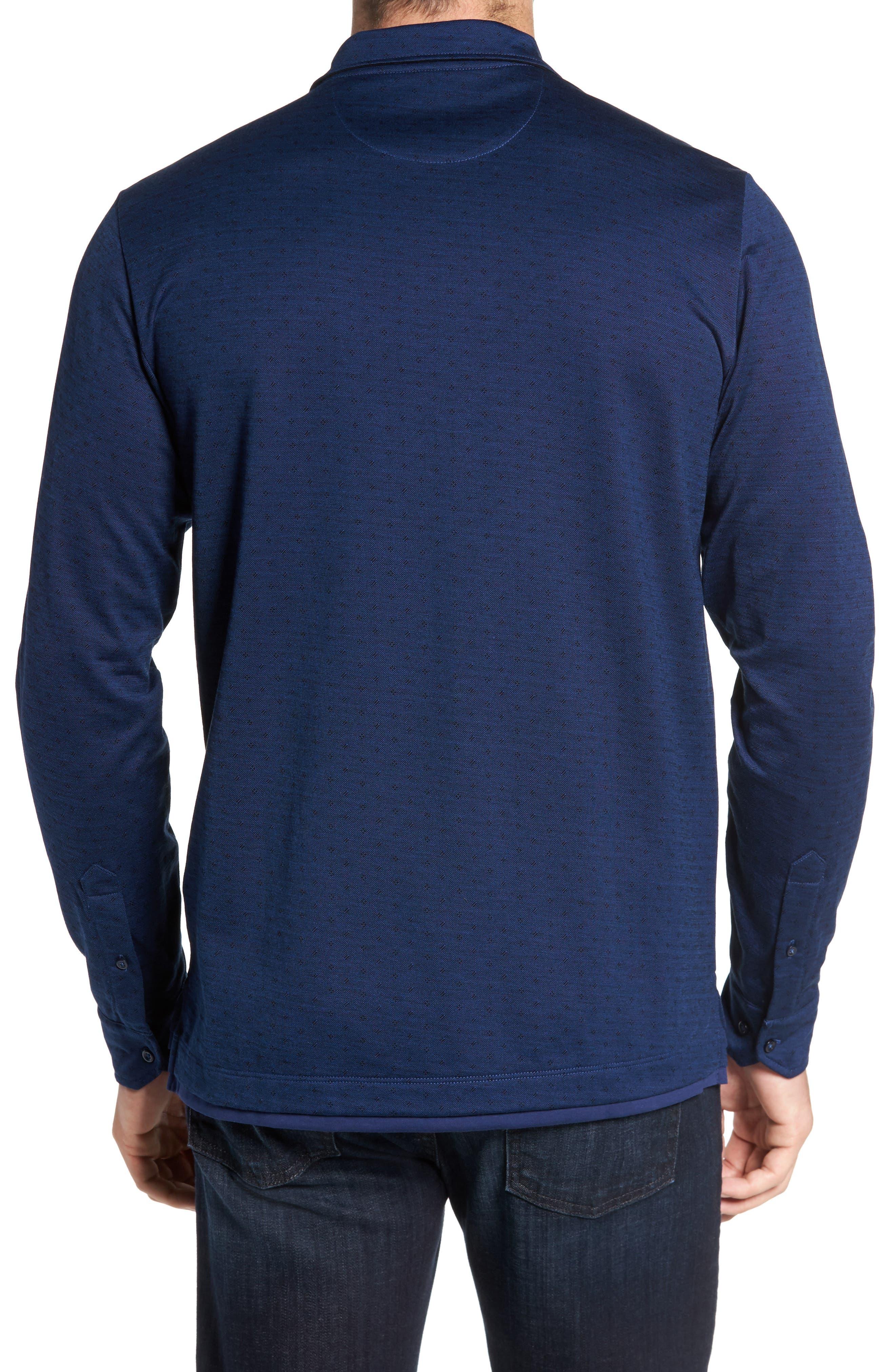 Jacquard Knit Sport Shirt,                             Alternate thumbnail 7, color,