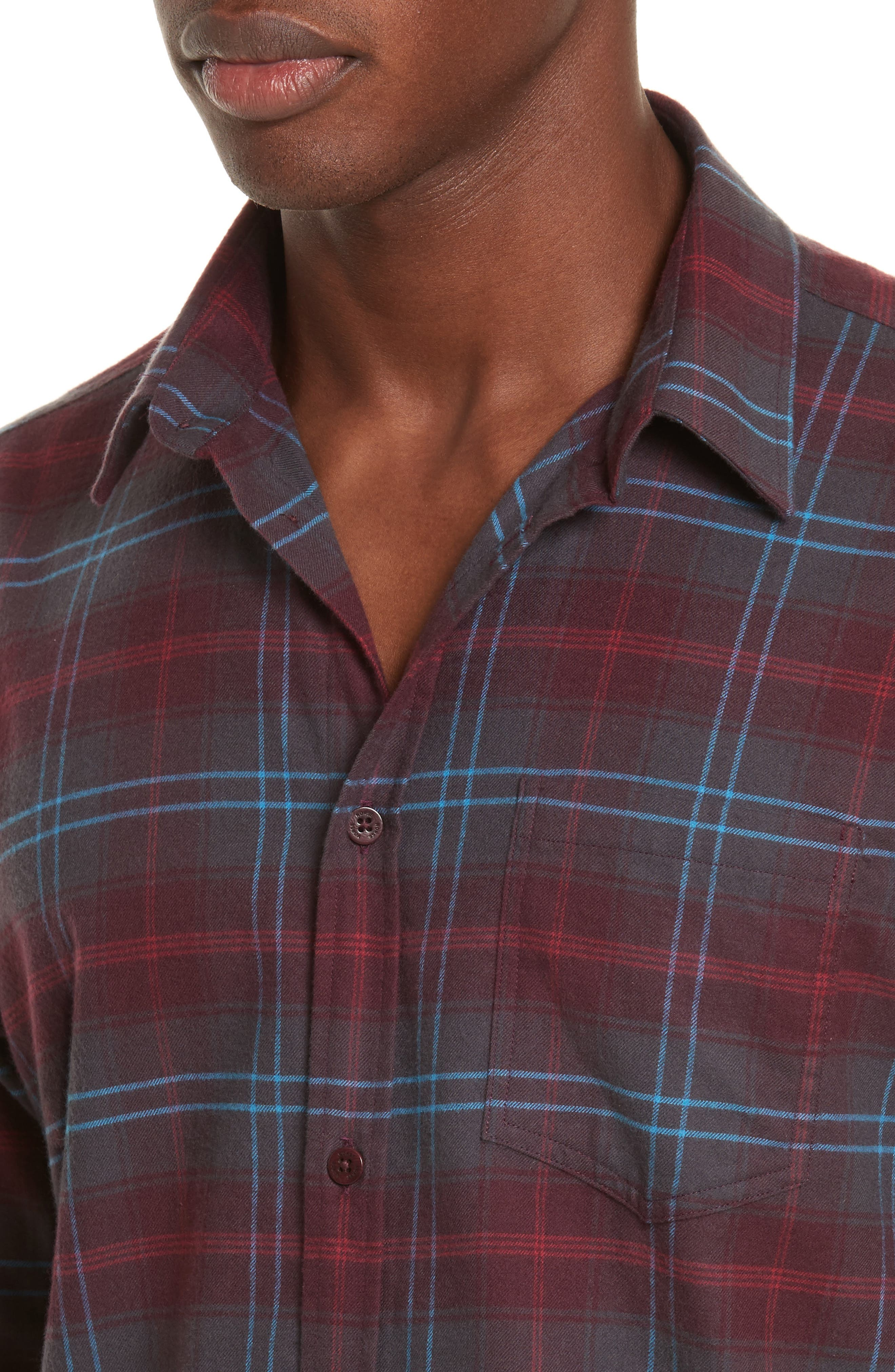 NORSE PROJECTS,                             Hans Brushed Check Shirt,                             Alternate thumbnail 5, color,                             616
