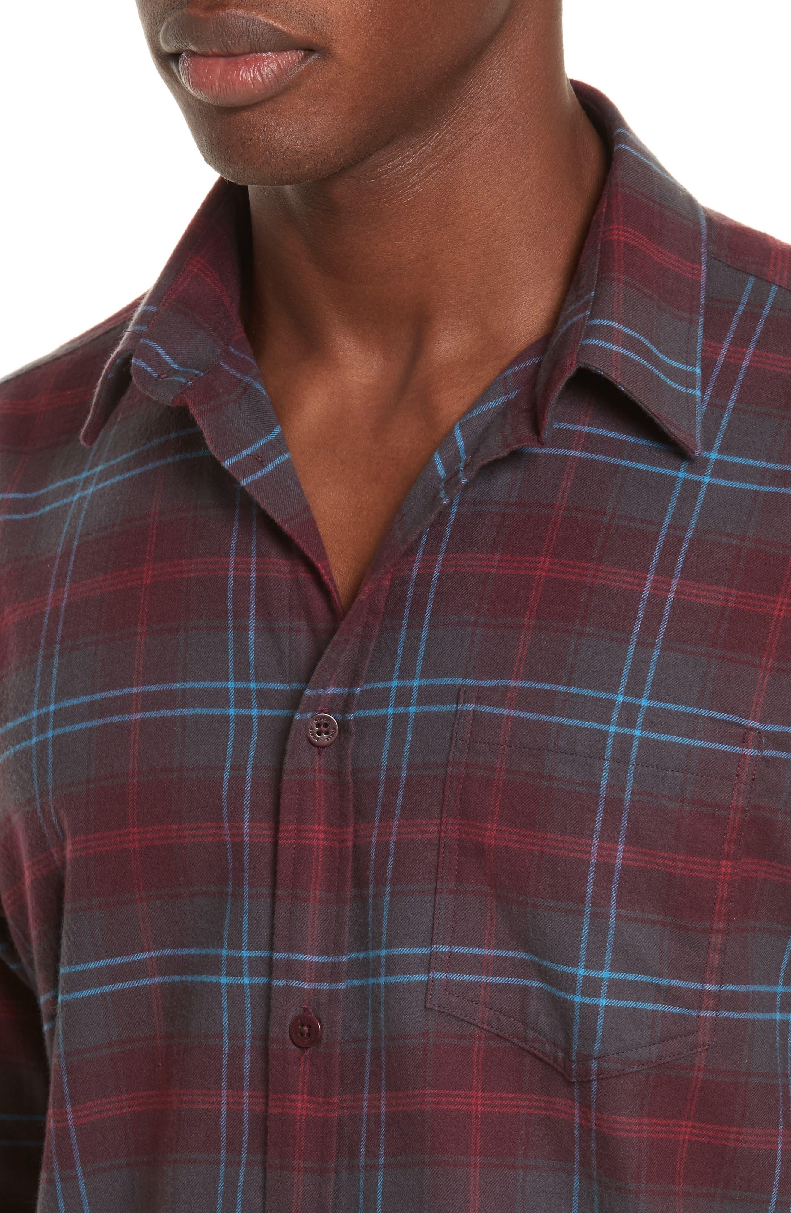 Hans Brushed Check Shirt,                             Alternate thumbnail 5, color,                             616