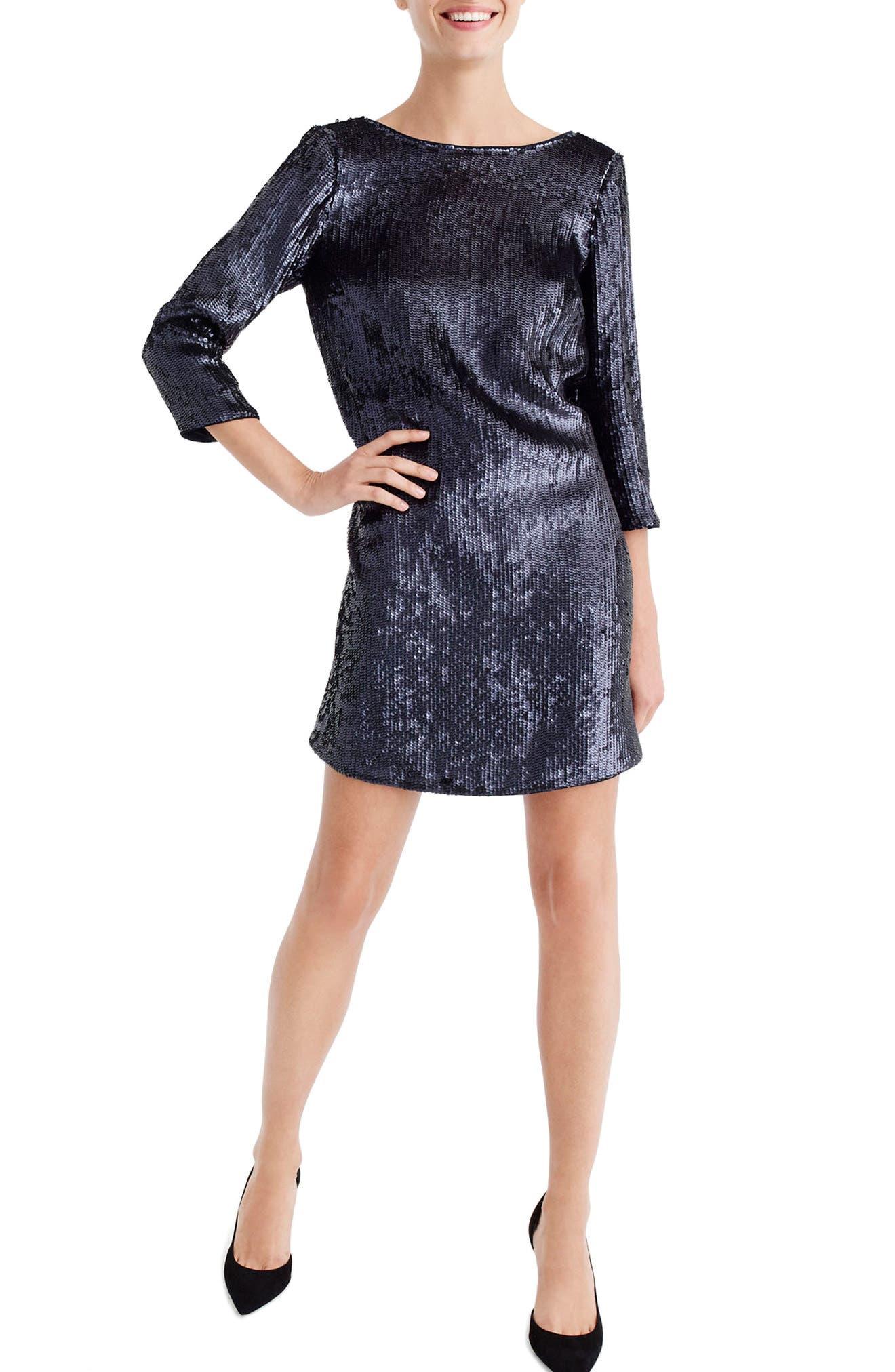 V-Back Sequin Dress,                         Main,                         color, 400