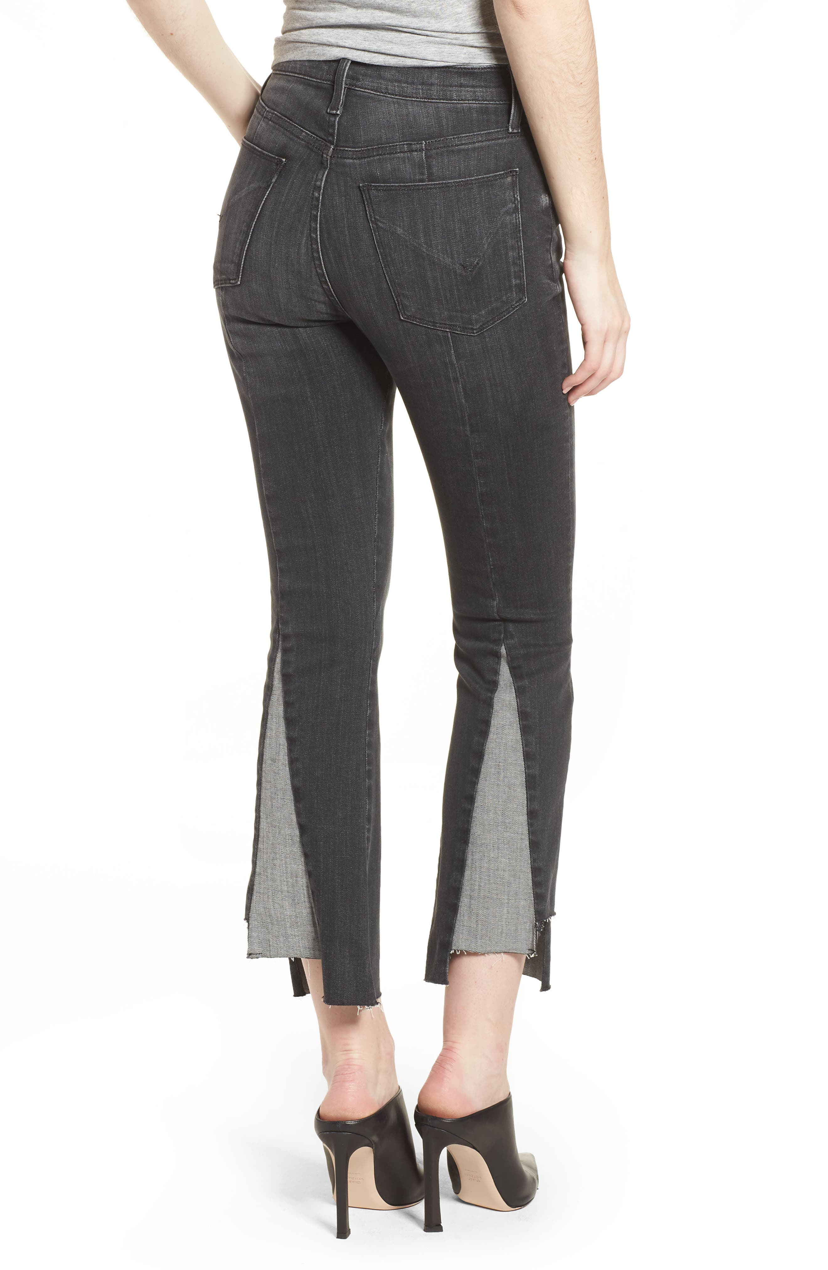 Holly High Waist Crop Flare Jeans,                             Alternate thumbnail 2, color,                             REAL WORLD