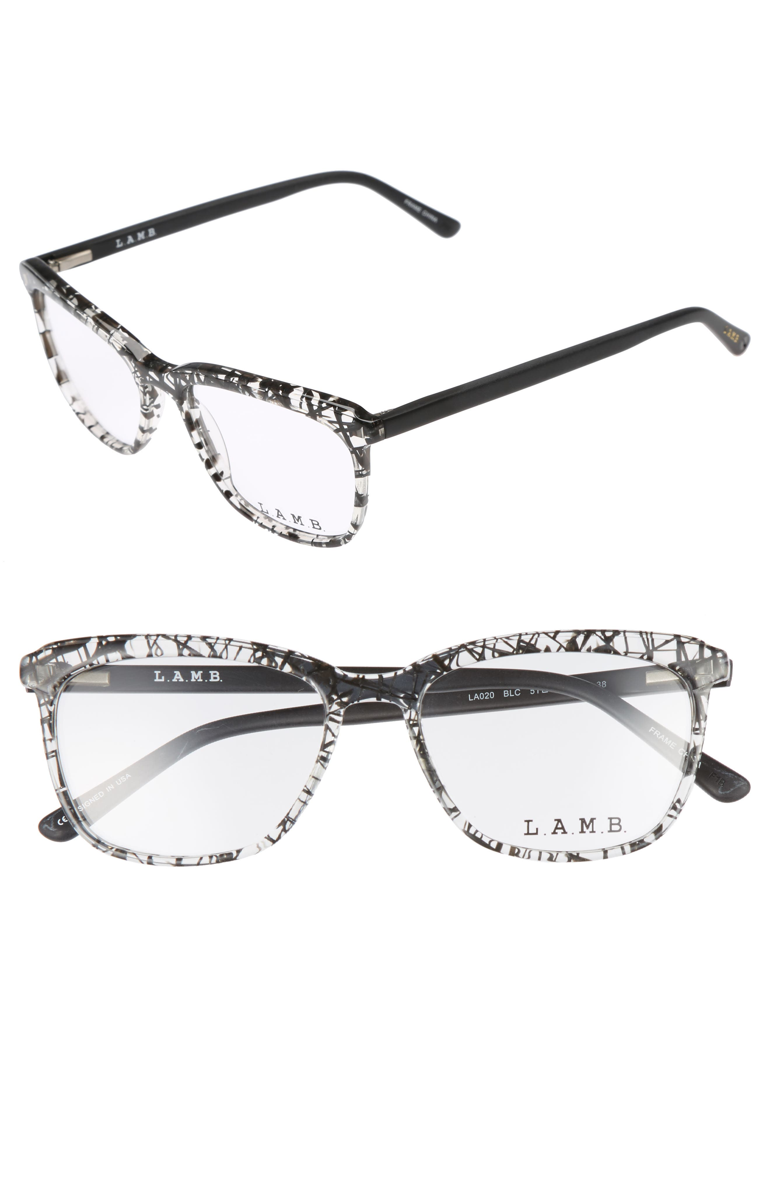 51mm Optical Square Glasses,                             Main thumbnail 2, color,