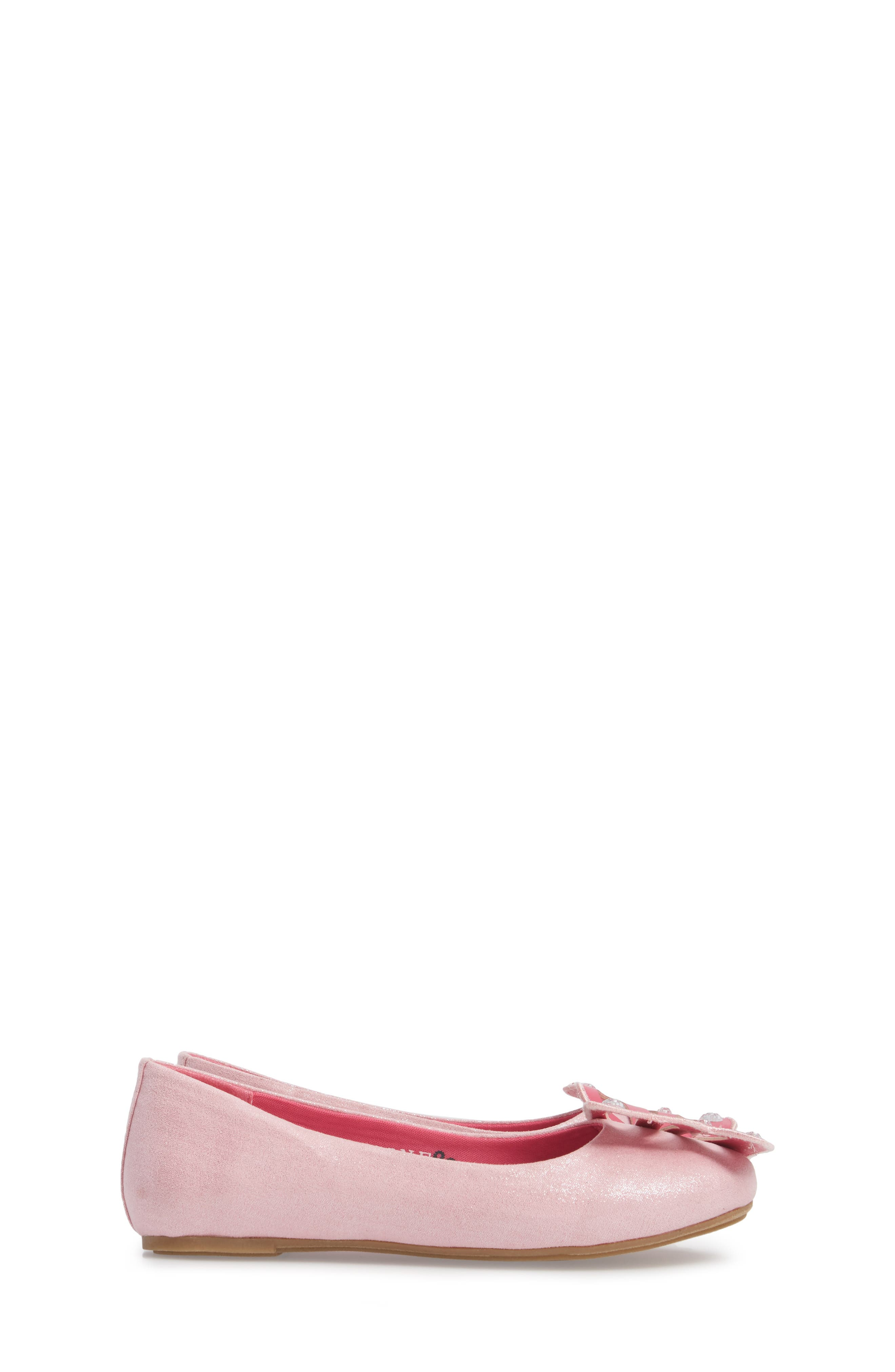 WellieWishers by American Girl Flutter Wings Embellished Ballet Flat,                             Alternate thumbnail 3, color,