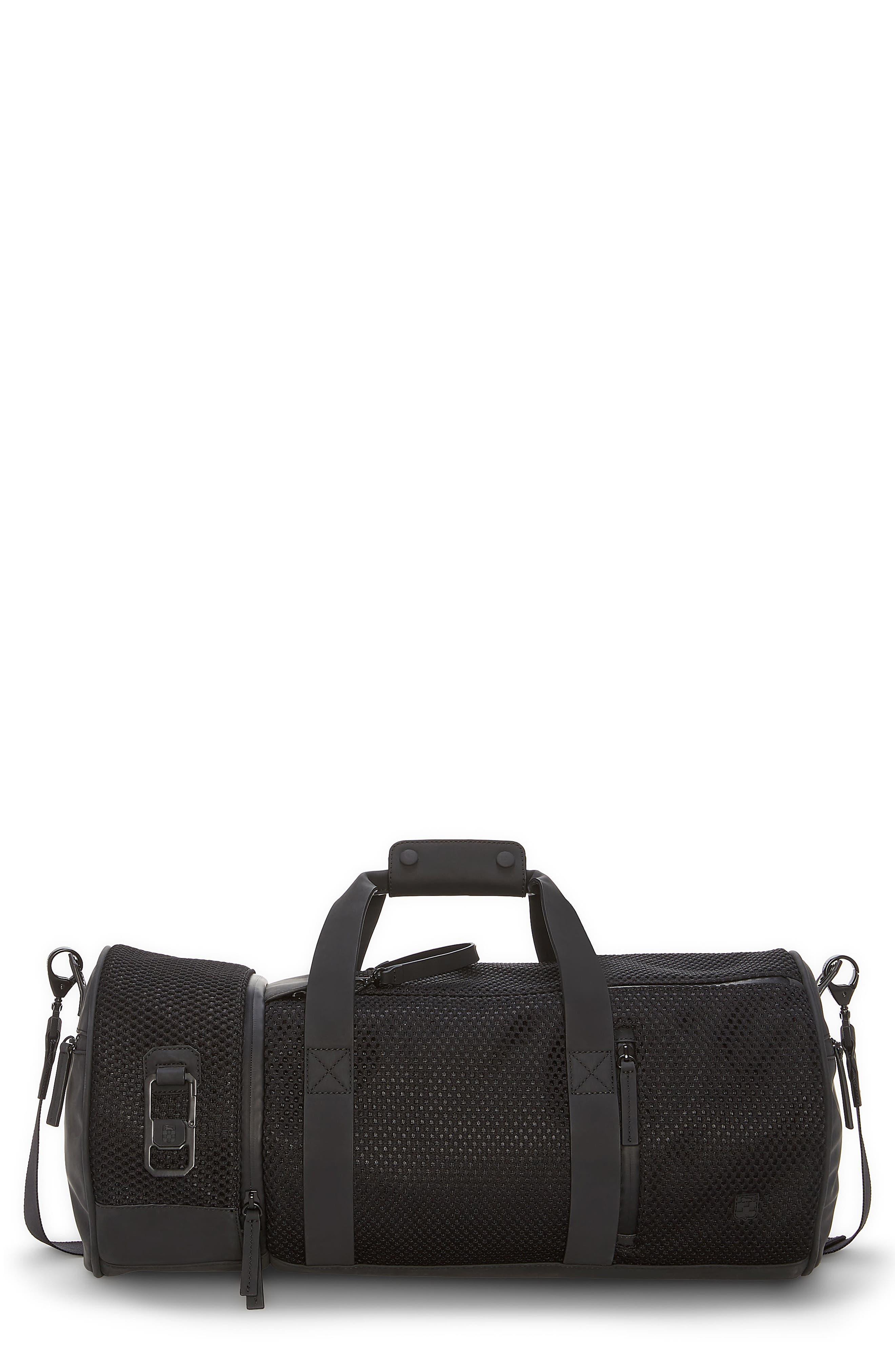 Urban Mesh Duffel Bag,                         Main,                         color, BLACK