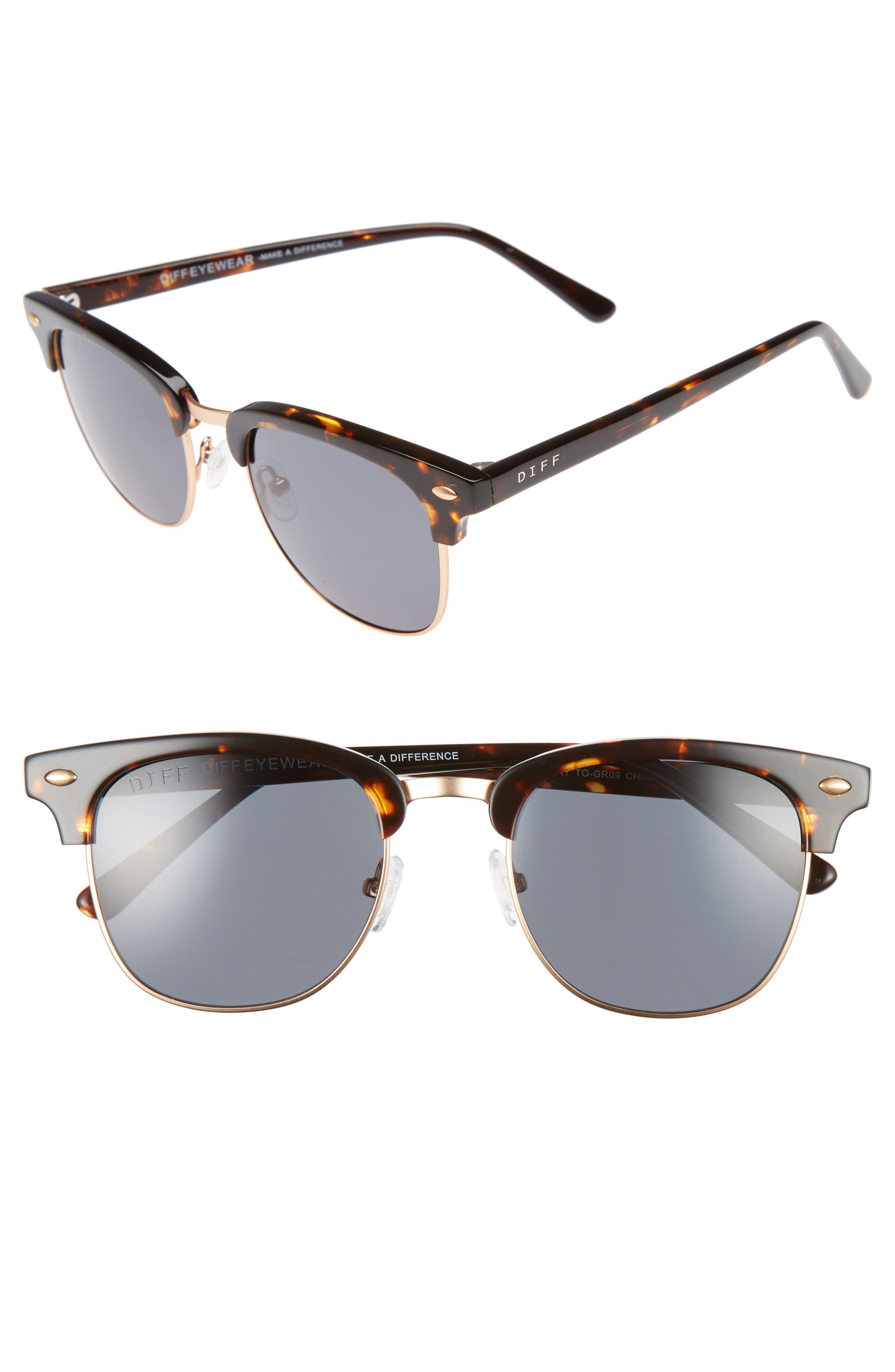 Barry 51mm Polarized Retro Sunglasses,                             Main thumbnail 5, color,