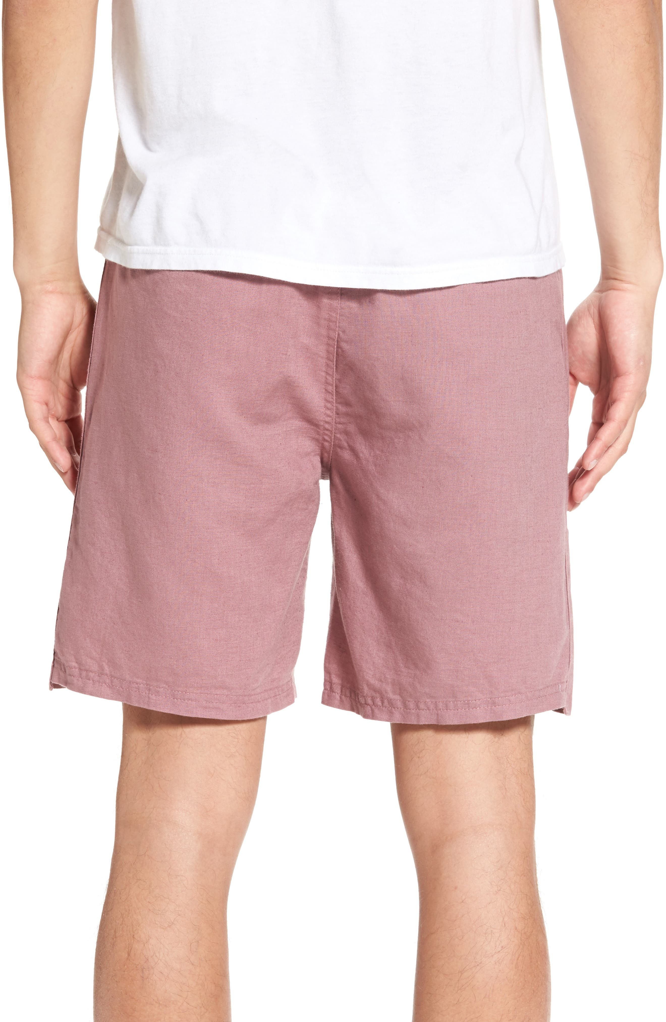 Omni Linen Blend Shorts,                             Alternate thumbnail 5, color,