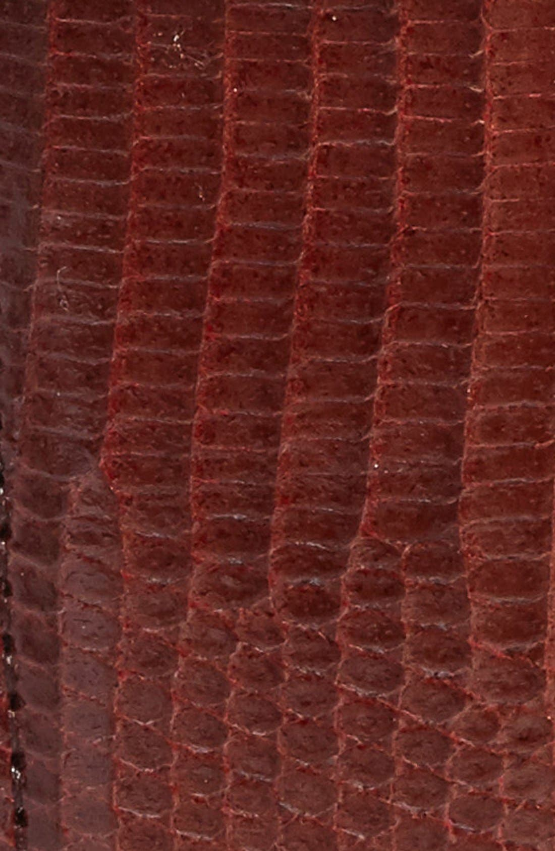 Lizard Leather Belt,                             Alternate thumbnail 2, color,                             COGNAC