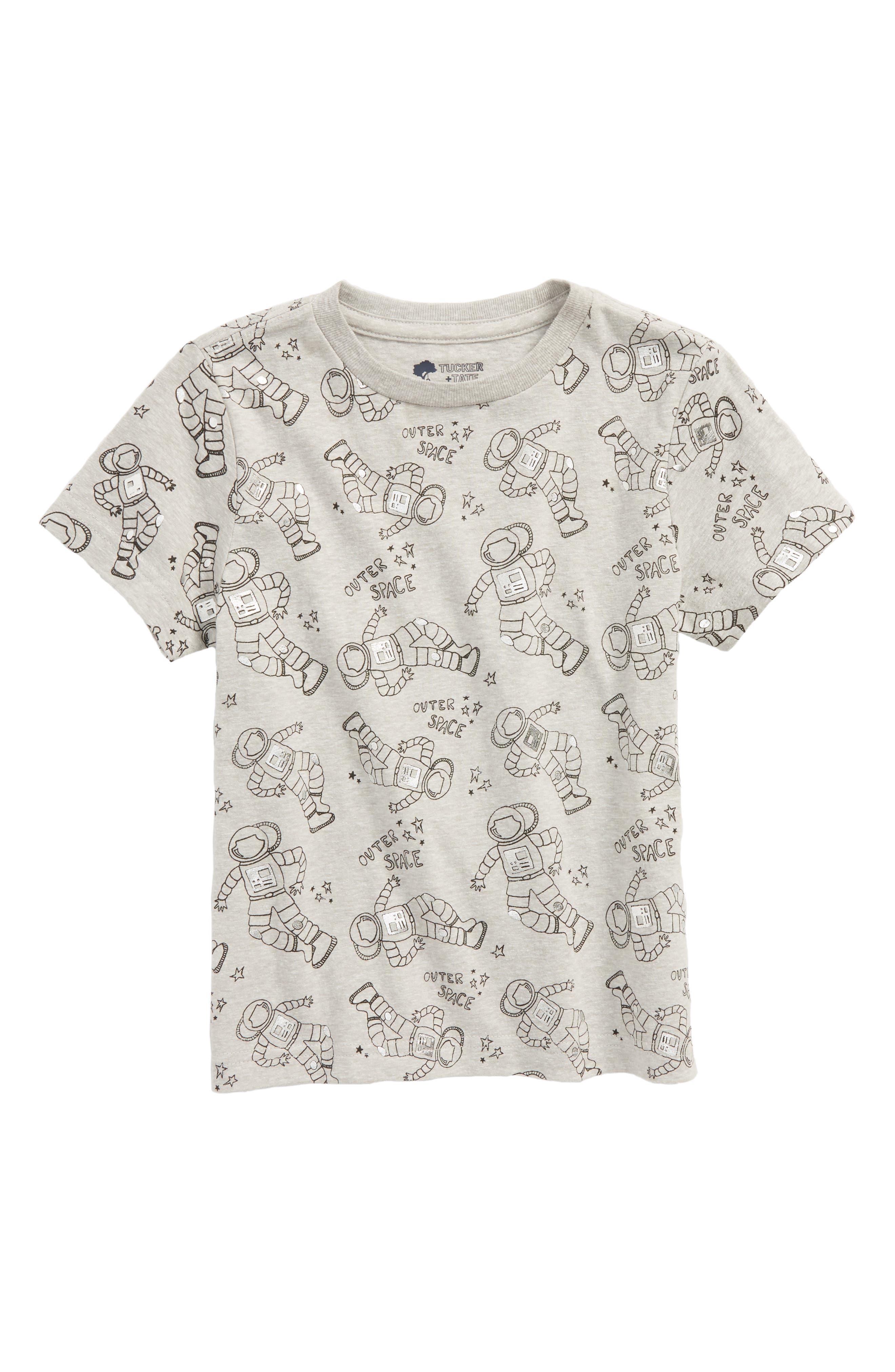 Print Foil T-Shirt,                             Main thumbnail 1, color,                             GREY ASH HEATHER ASTRONAUT