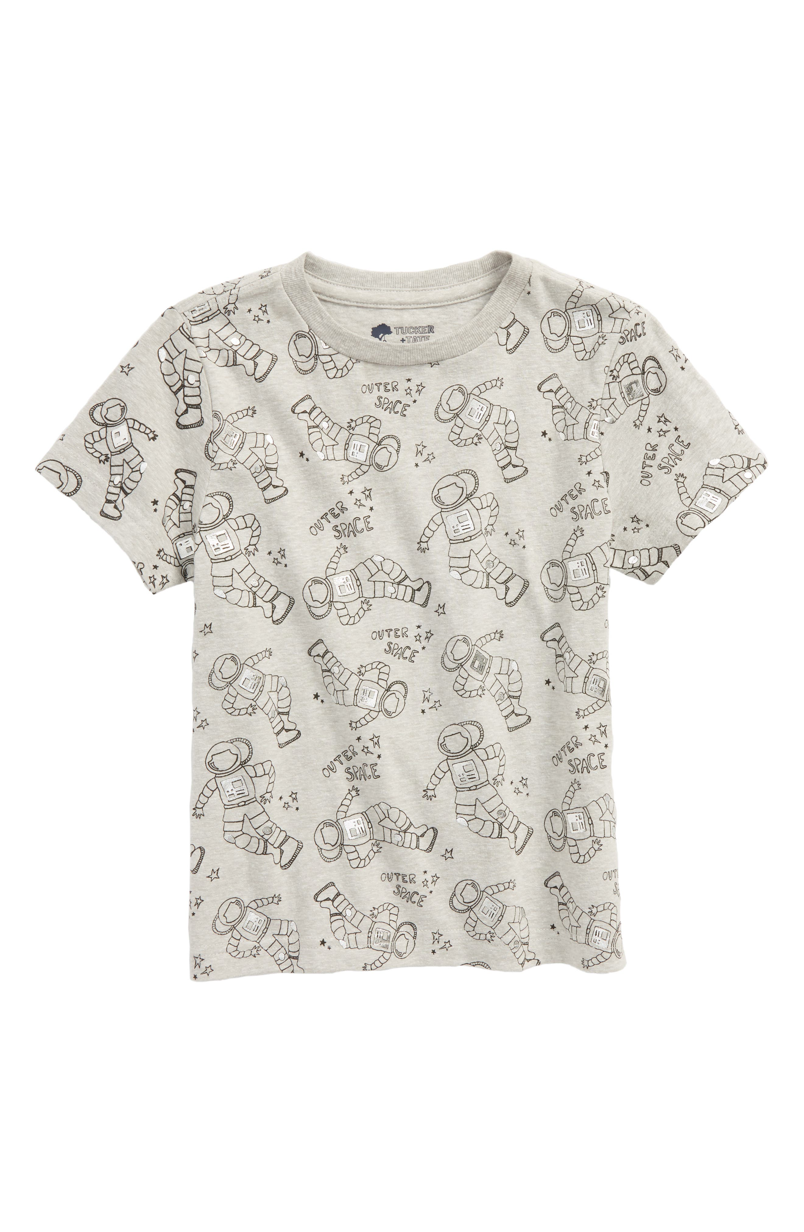 Print Foil T-Shirt,                         Main,                         color, GREY ASH HEATHER ASTRONAUT