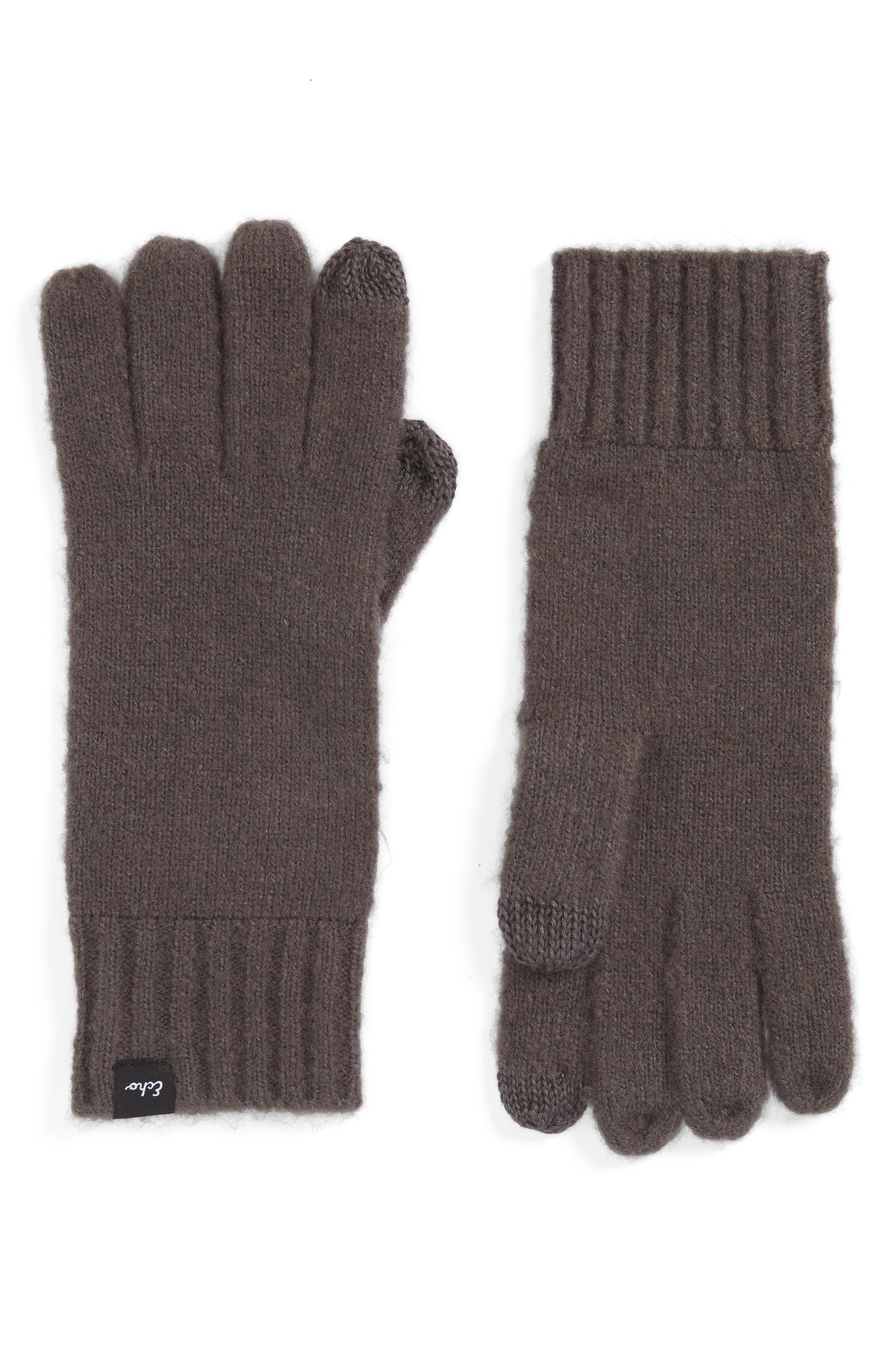 'Touch' Stretch Fleece Tech Gloves,                             Main thumbnail 1, color,                             011