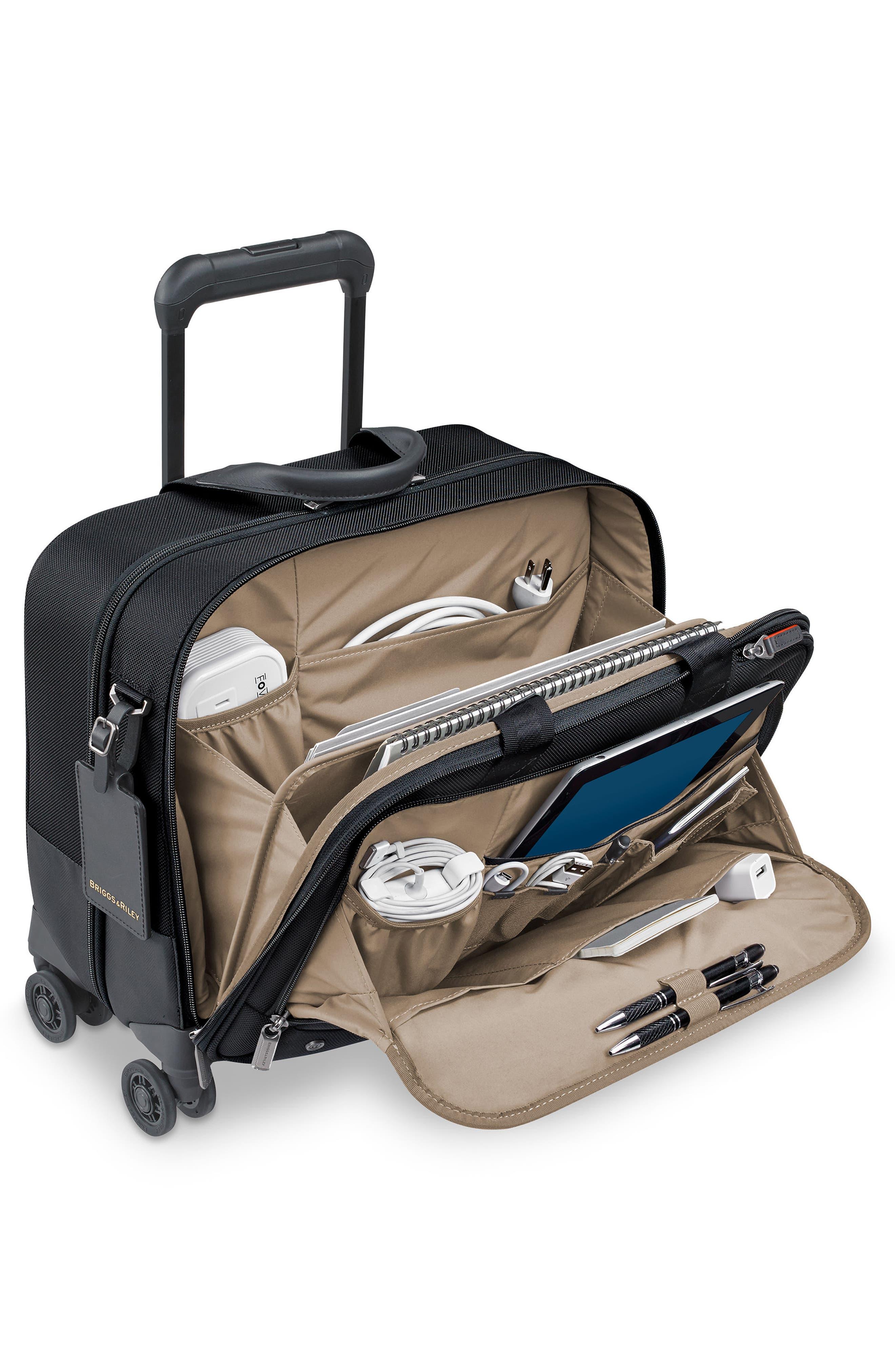 @work Medium Wheeled Briefcase,                             Alternate thumbnail 2, color,                             BLACK
