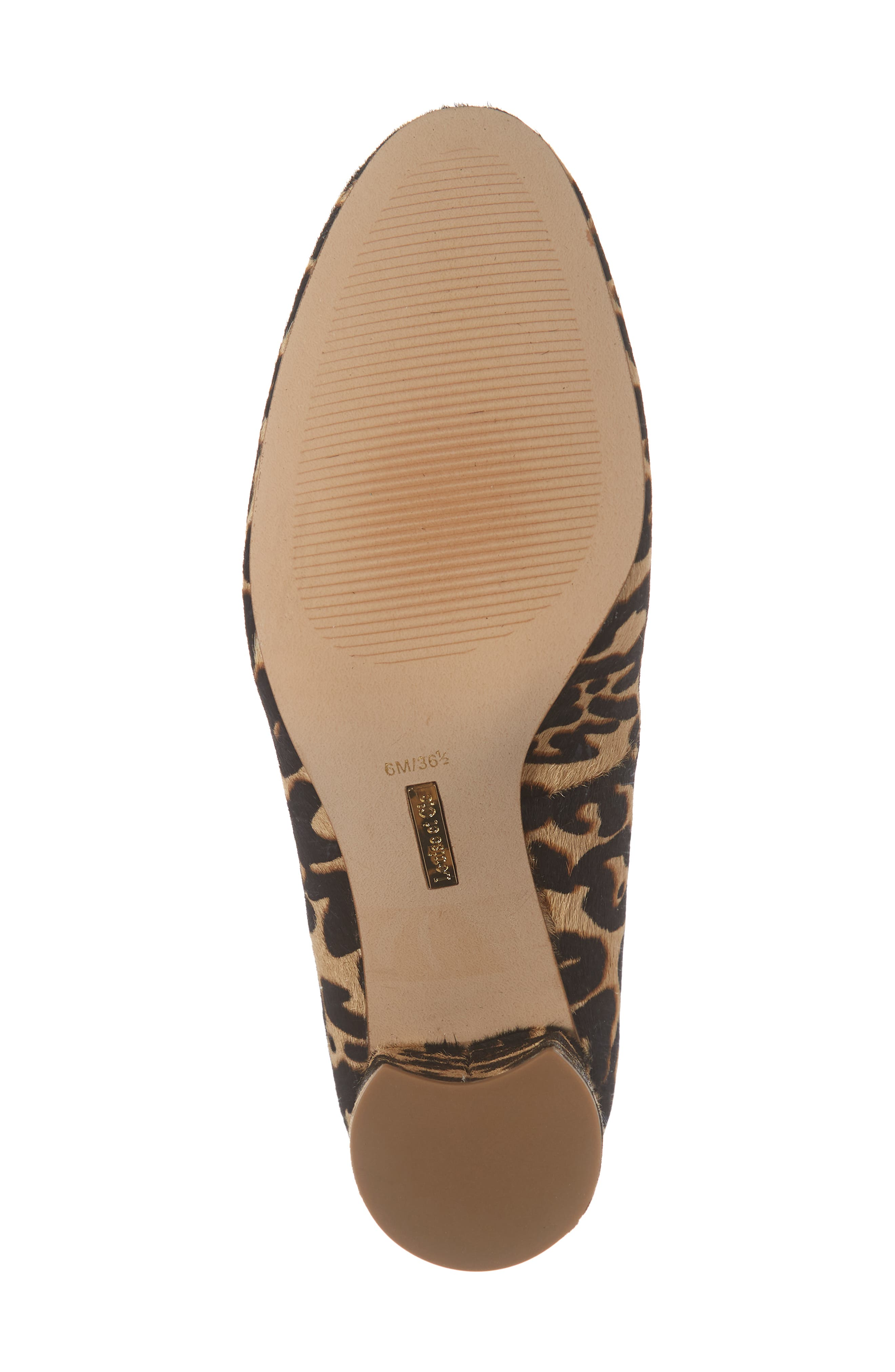 Jalzy Genuine Calf Hair Pump,                             Alternate thumbnail 6, color,                             LEOPARD