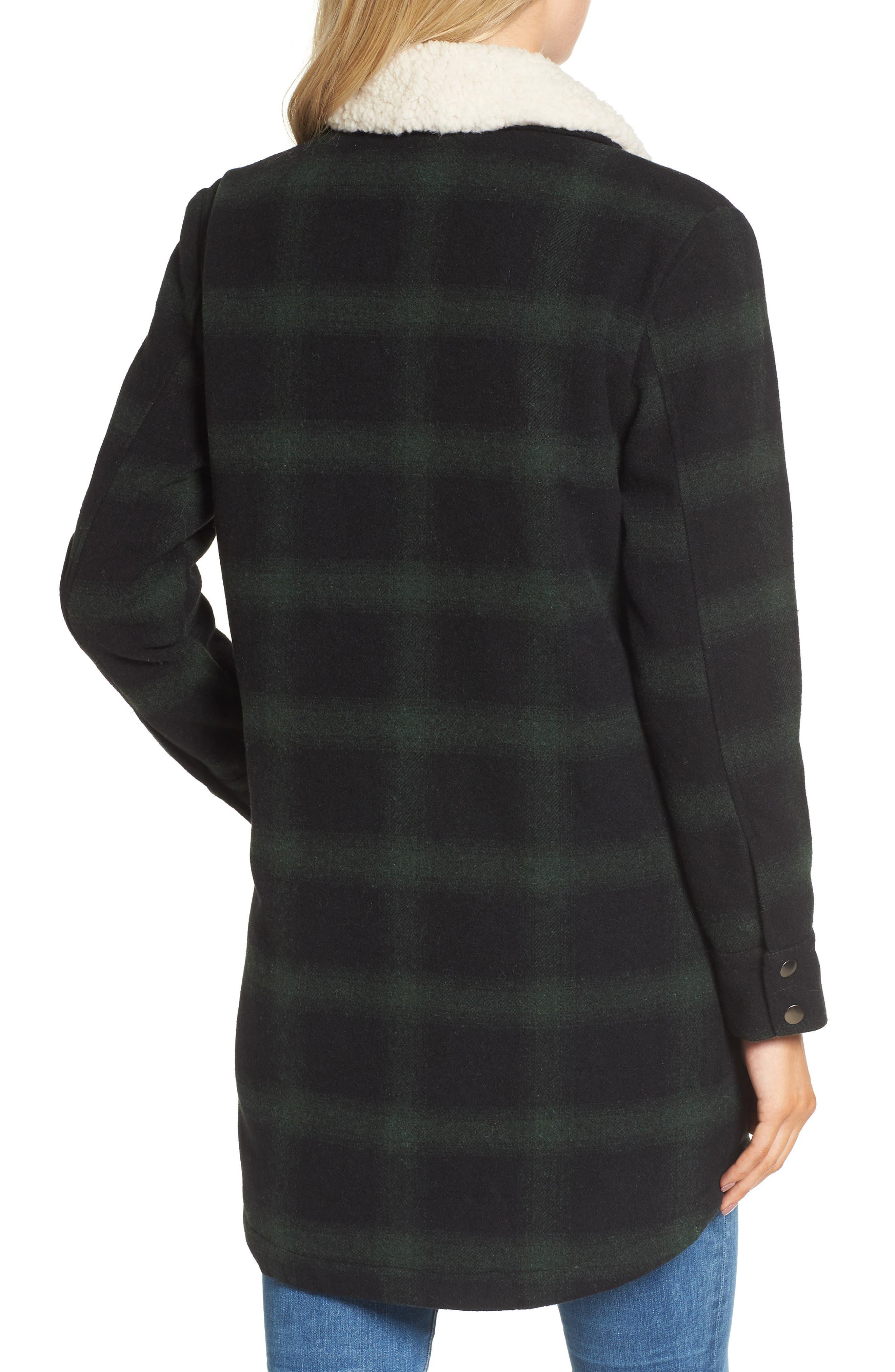 Bradley Fleece Lined Plaid Coat,                             Alternate thumbnail 2, color,                             301
