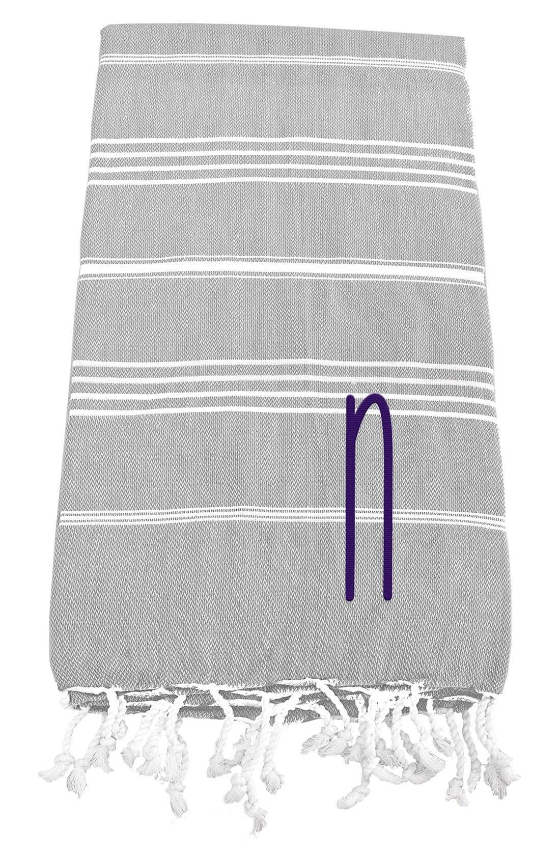 Monogram Turkish Cotton Towel,                             Main thumbnail 16, color,