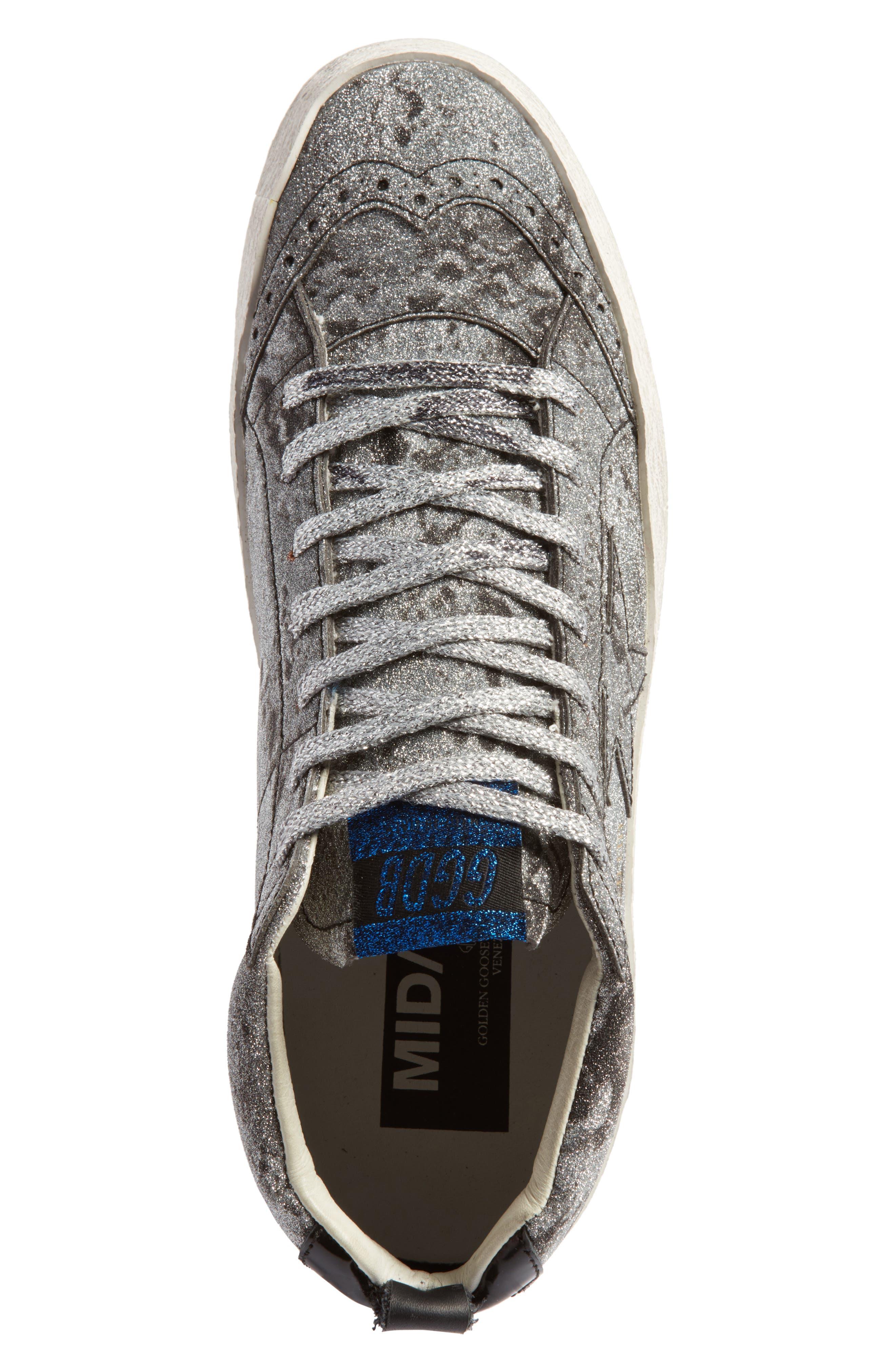 Mid Star Glitter Sneaker,                             Alternate thumbnail 5, color,                             040