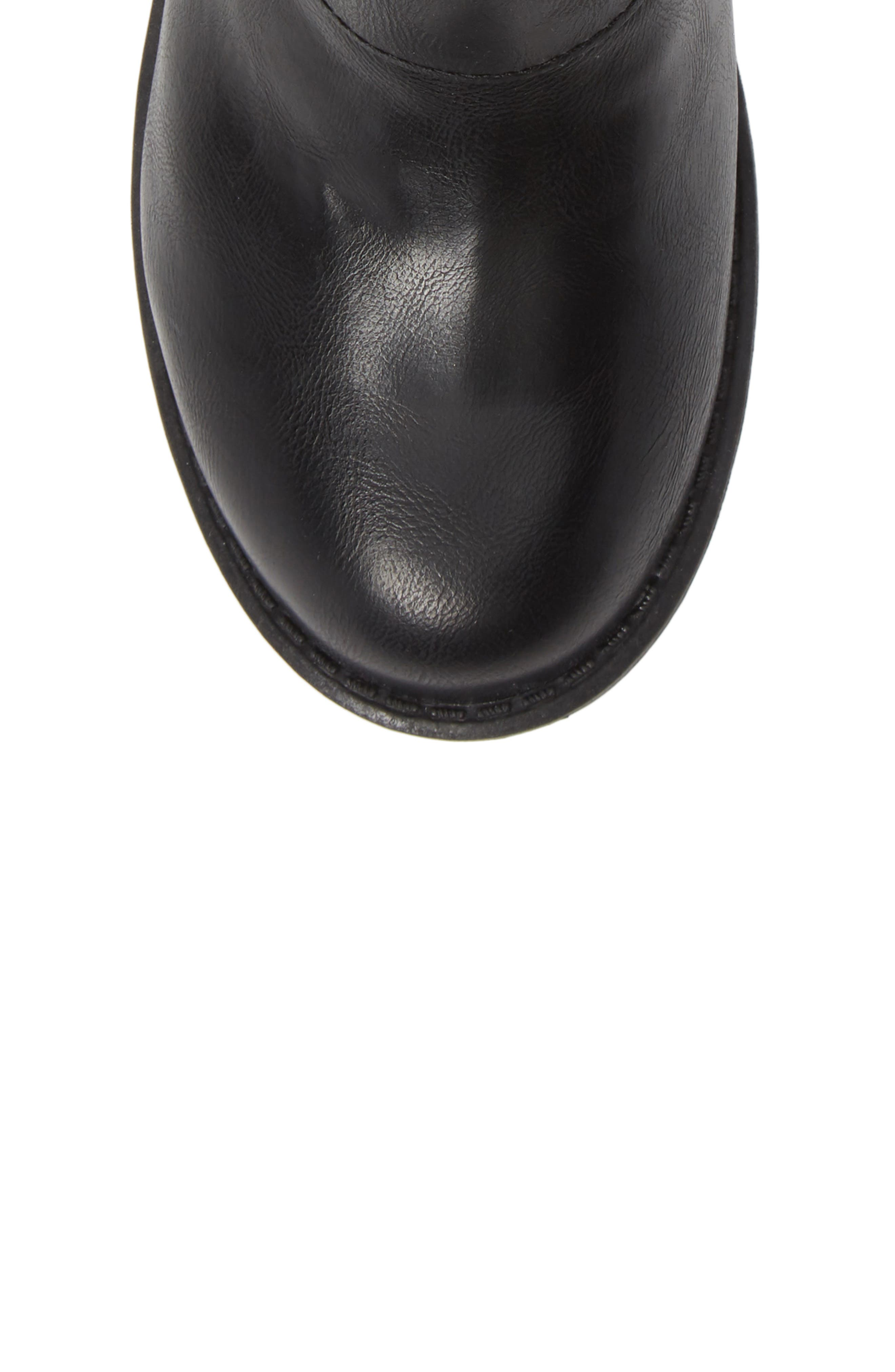 Slouchy Boot,                             Alternate thumbnail 5, color,                             BLACK