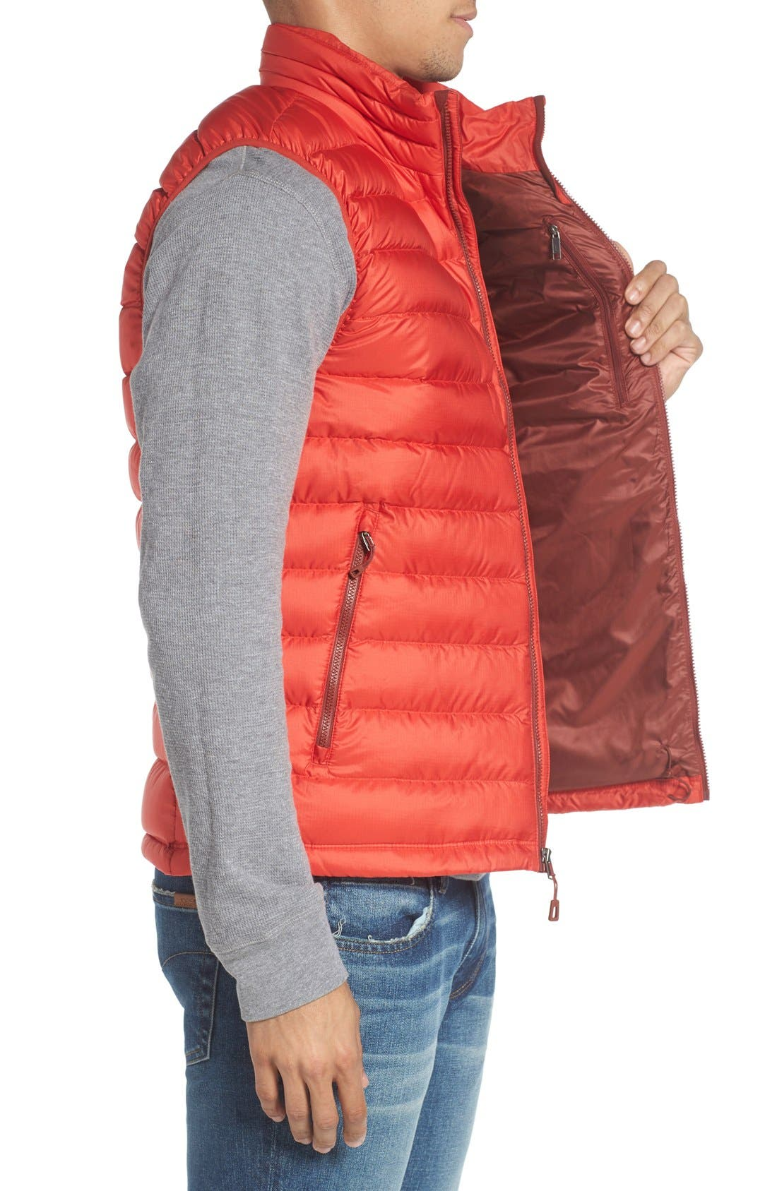 Windproof & Water Resistant 800 Fill Power Down Quilted Vest,                             Alternate thumbnail 24, color,