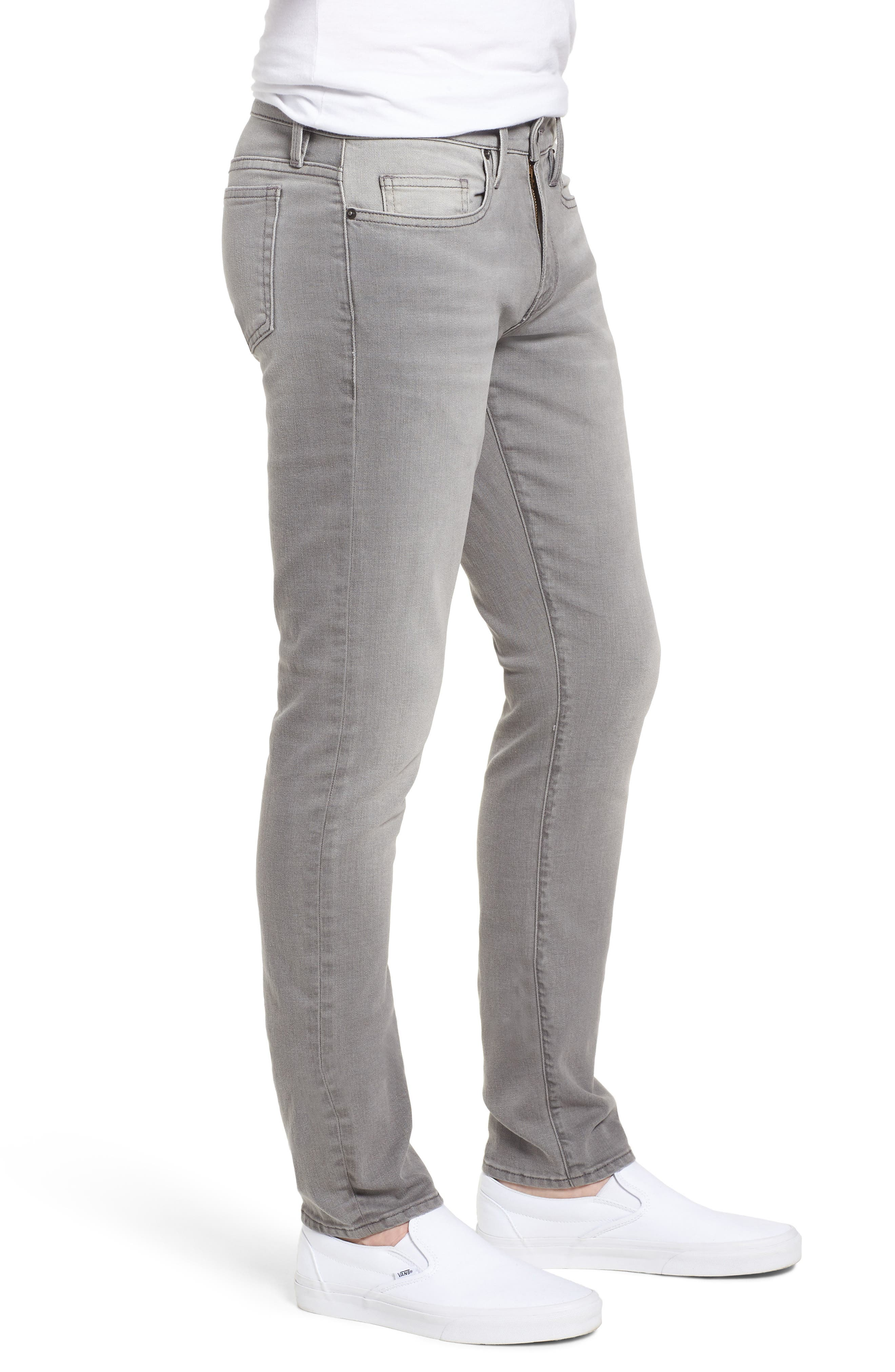 FRAME,                             L'Homme Slim Fit Jeans,                             Alternate thumbnail 3, color,                             031