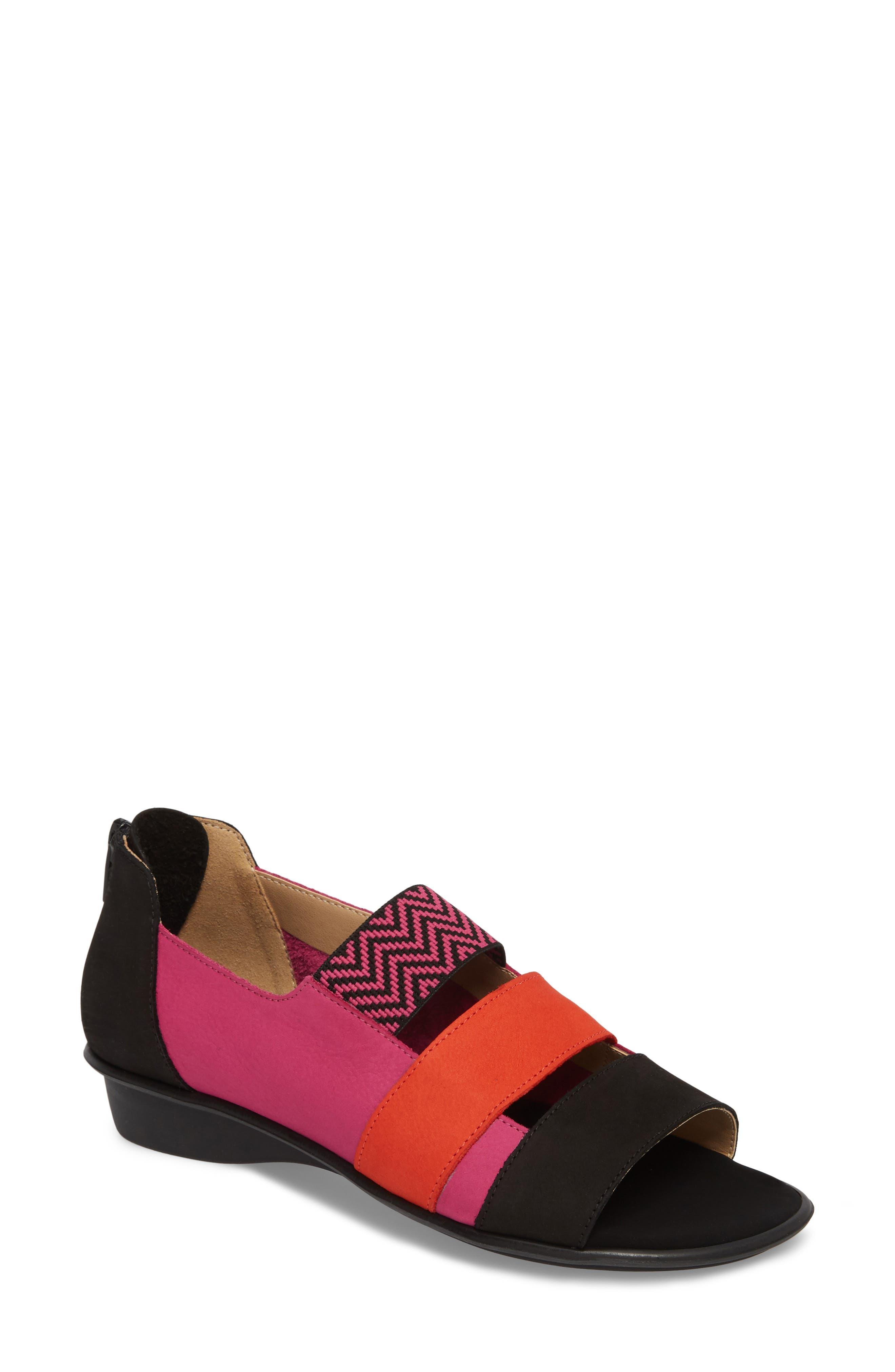 Sesto Meucci Elise Peep Toe Sandal, Pink