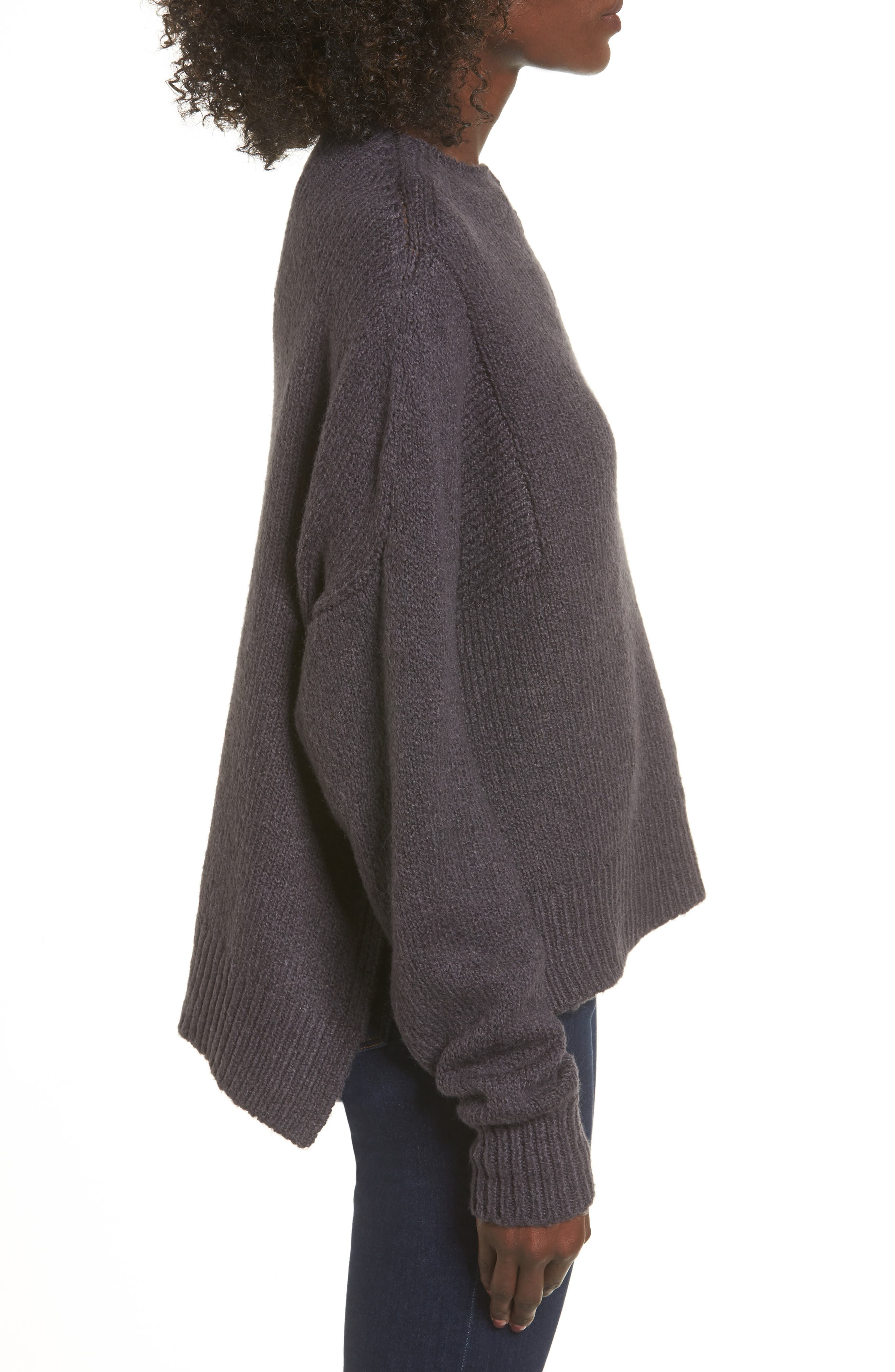 Fuzzy Side Slit Sweater,                             Alternate thumbnail 7, color,