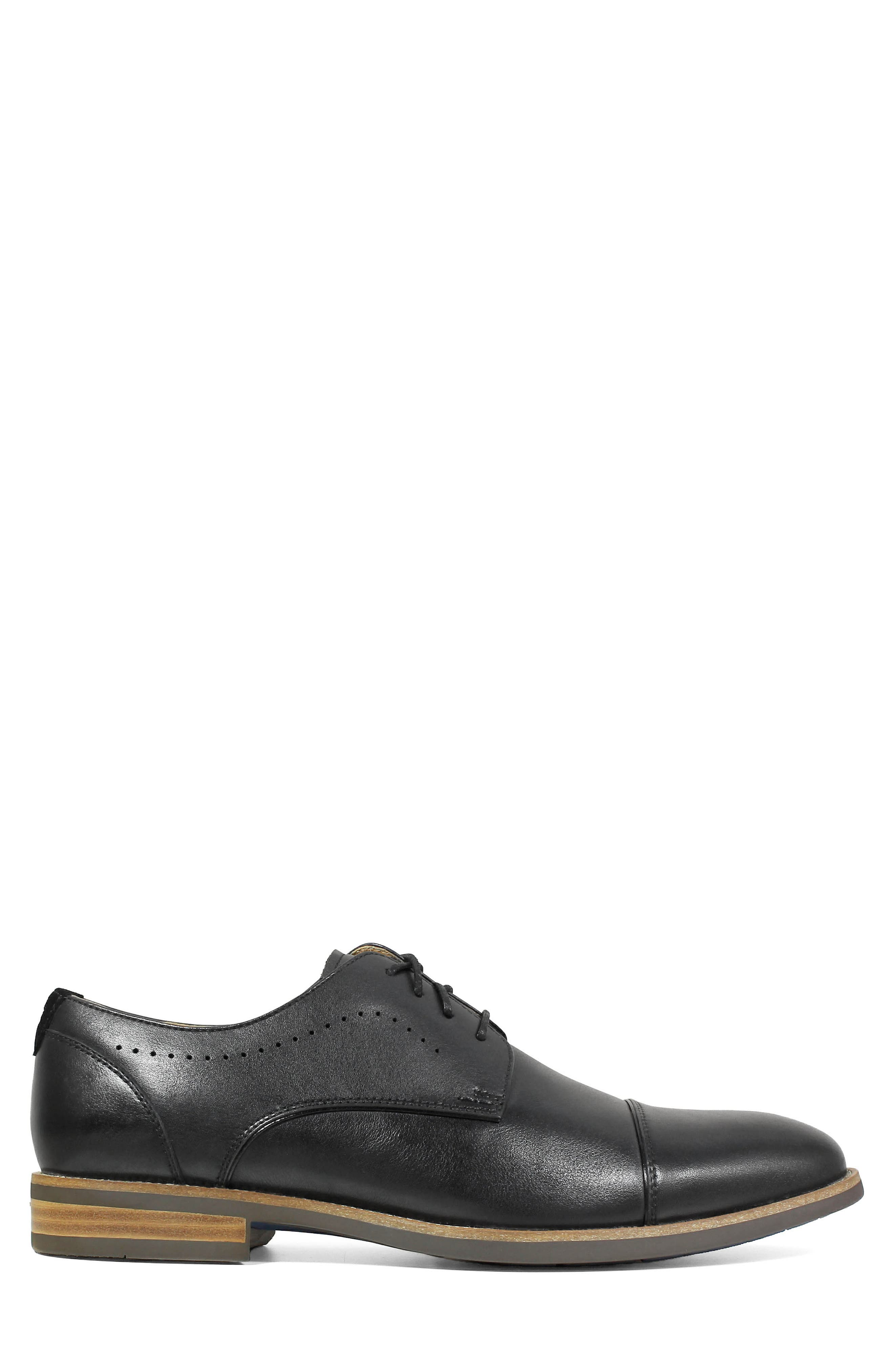 Uptown Cap Toe Derby,                             Alternate thumbnail 3, color,                             BLACK LEATHER