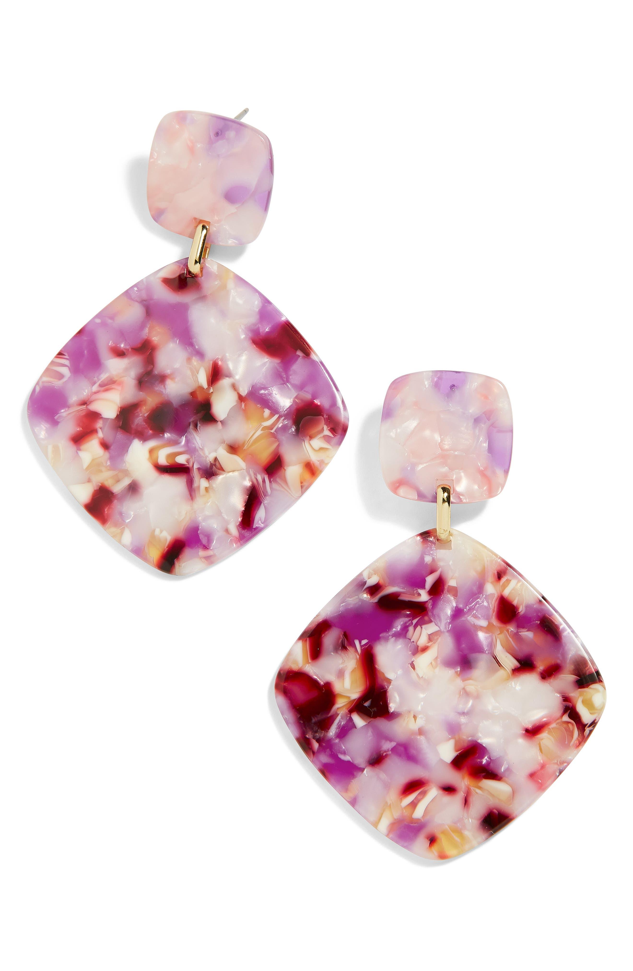Avida Drop Earrings,                             Main thumbnail 1, color,                             PURPLE