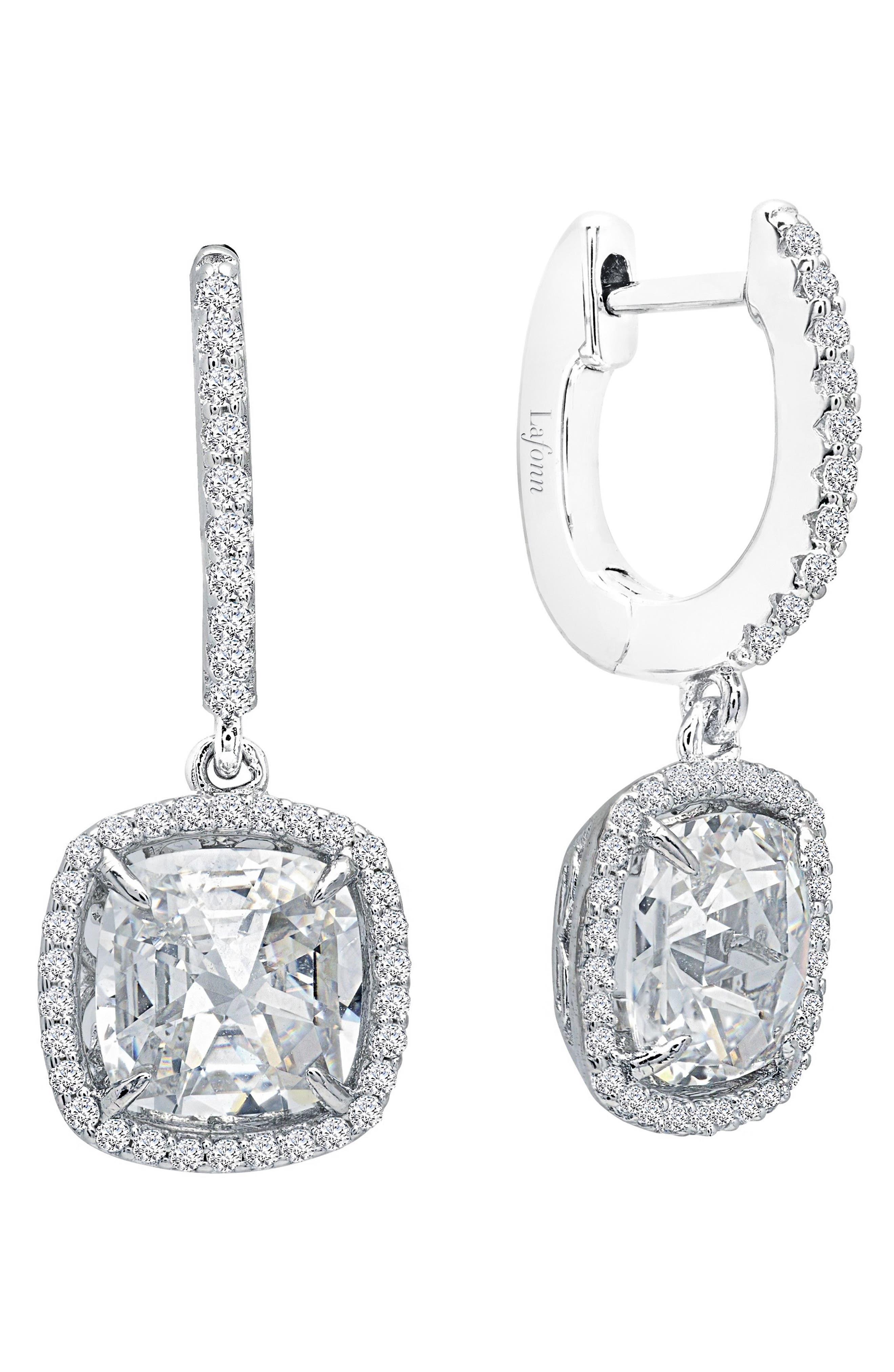 Rose Cut Simulated Diamond Drop Earrings,                             Main thumbnail 1, color,                             040
