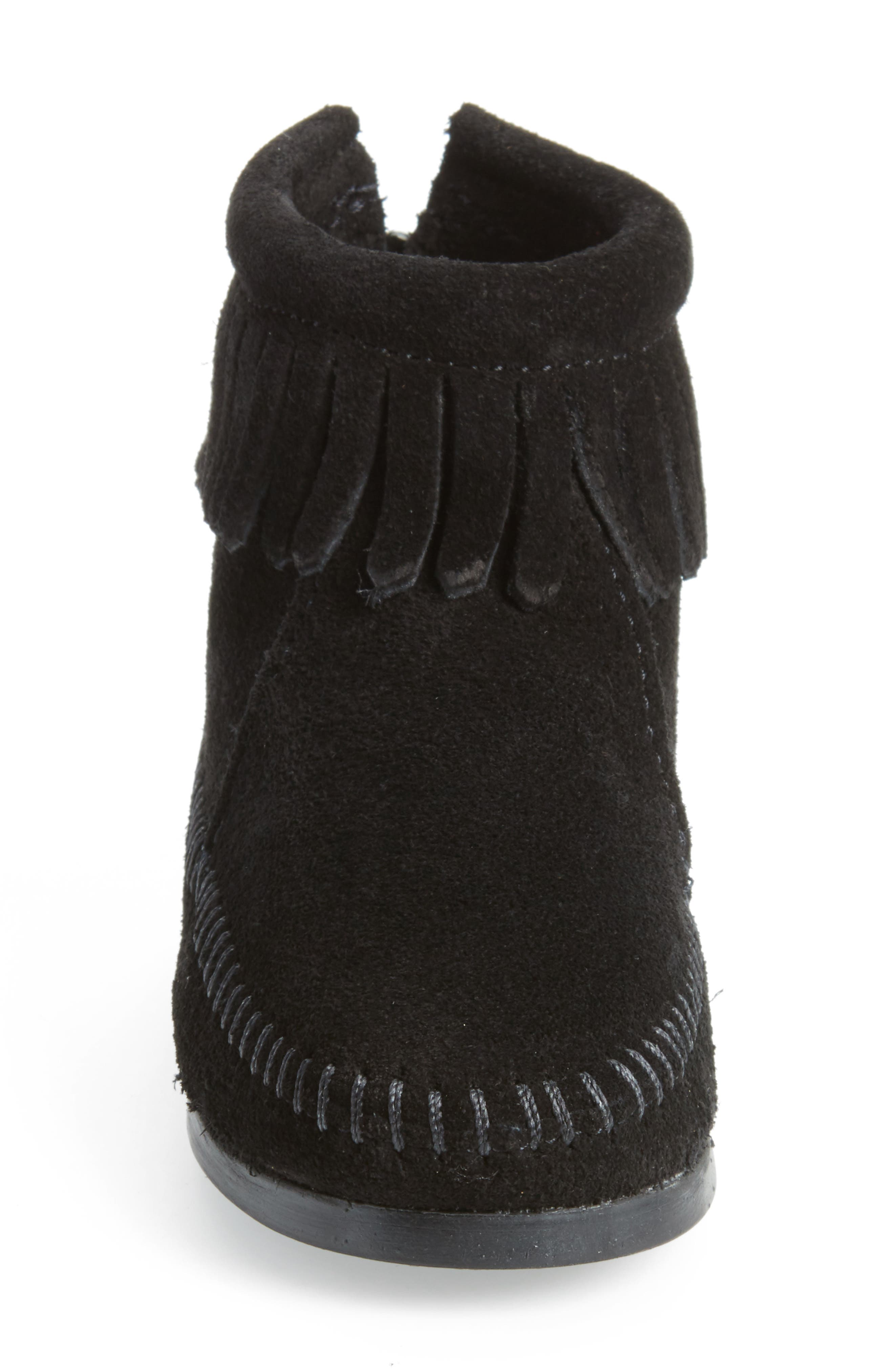 Back Zip Boot,                             Alternate thumbnail 4, color,                             001