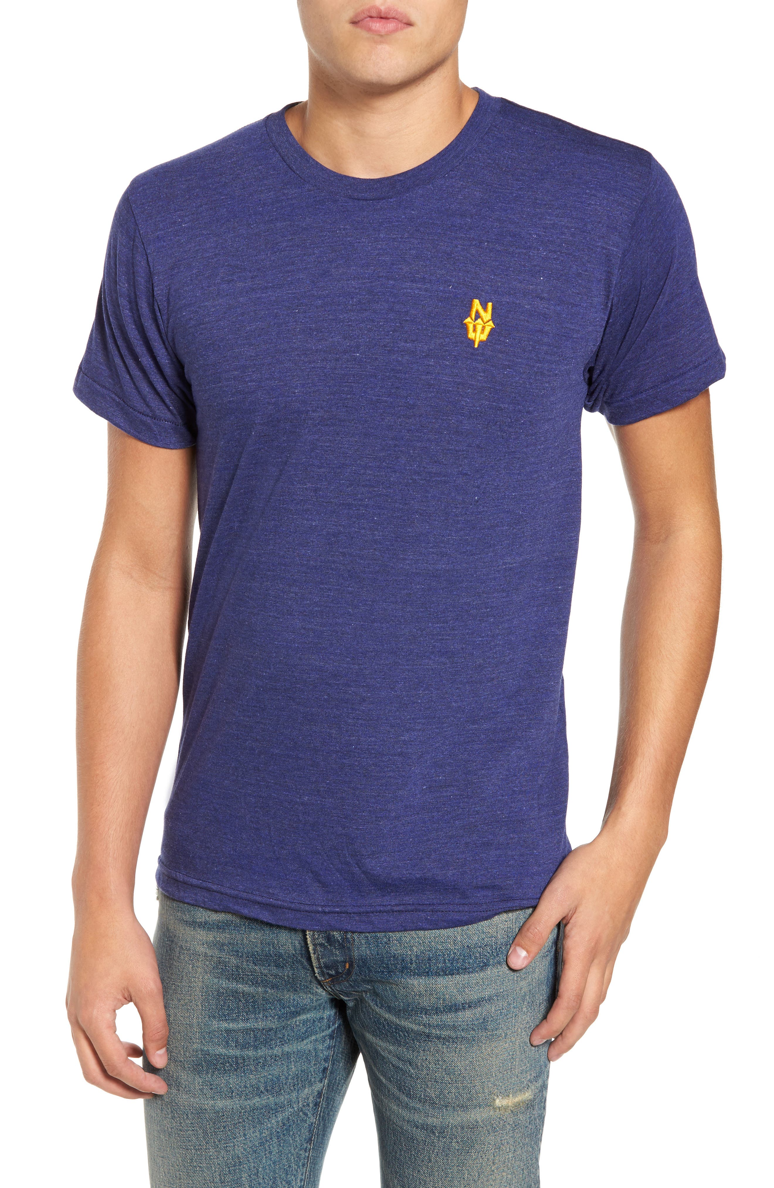 NW Trident Embroidered T-Shirt,                             Main thumbnail 3, color,