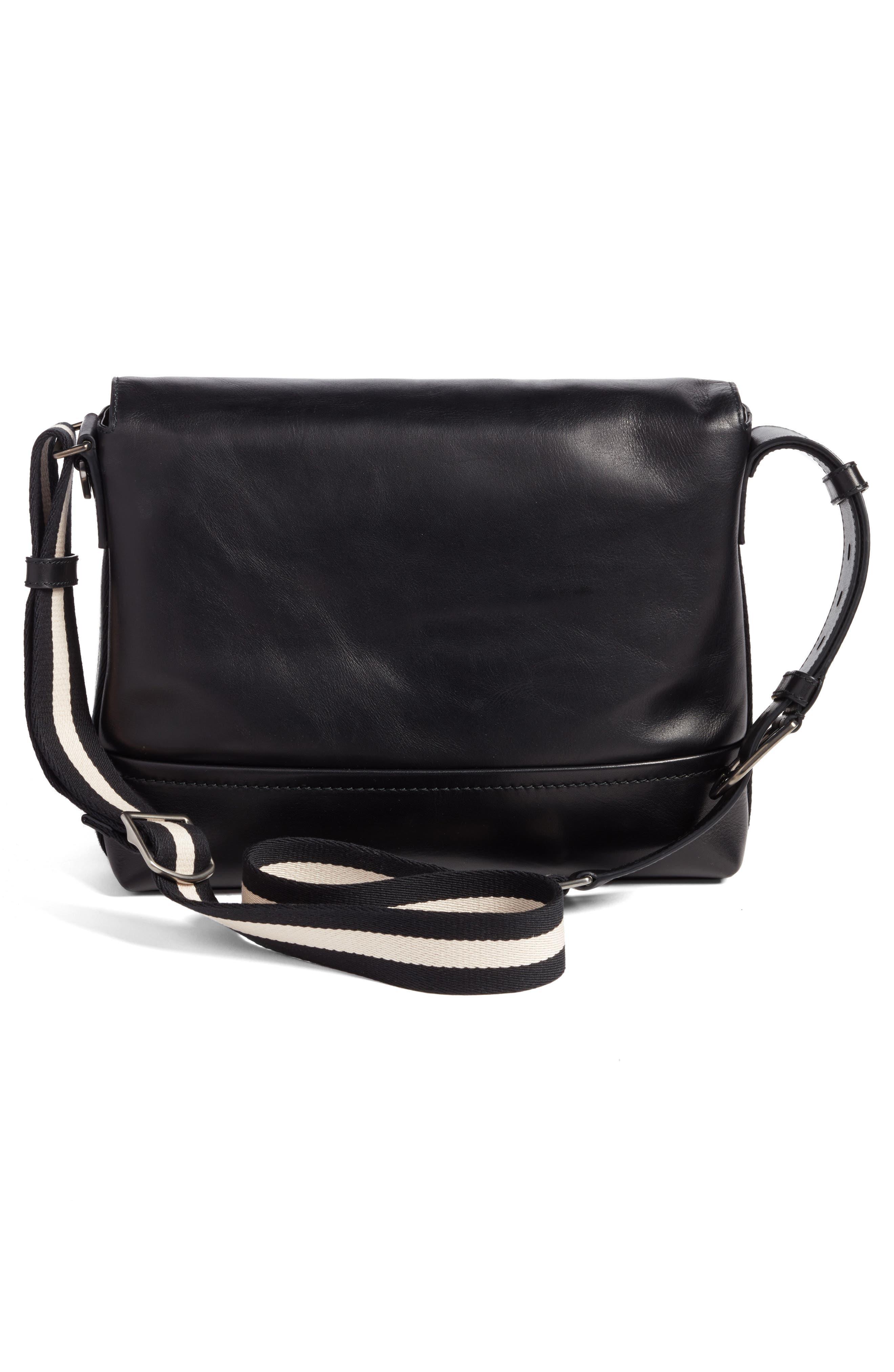 Tamrac Leather Messenger Bag,                             Alternate thumbnail 3, color,                             001