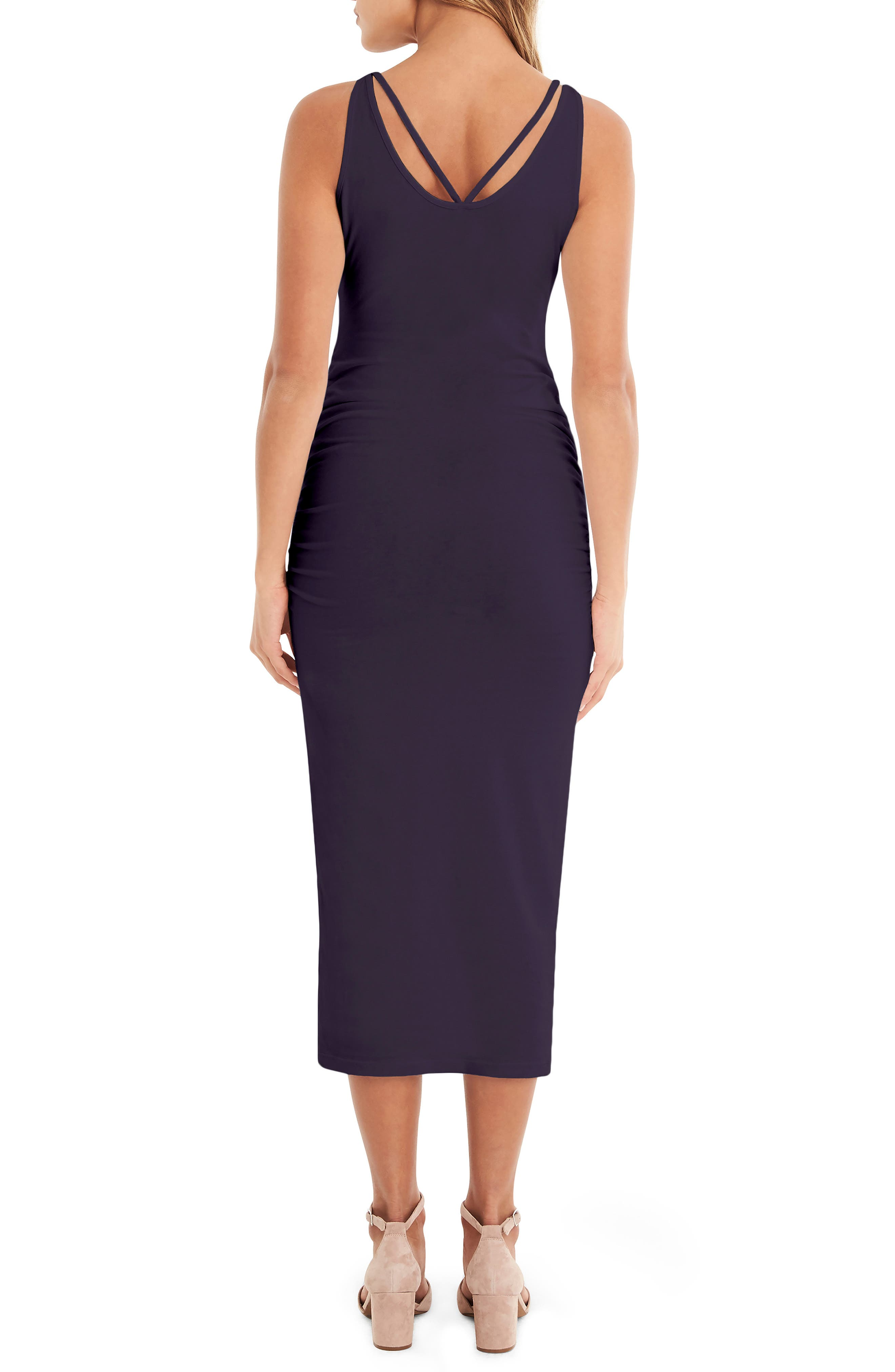 Reversible Stretch Cotton Midi Dress,                             Alternate thumbnail 2, color,                             GYPSY