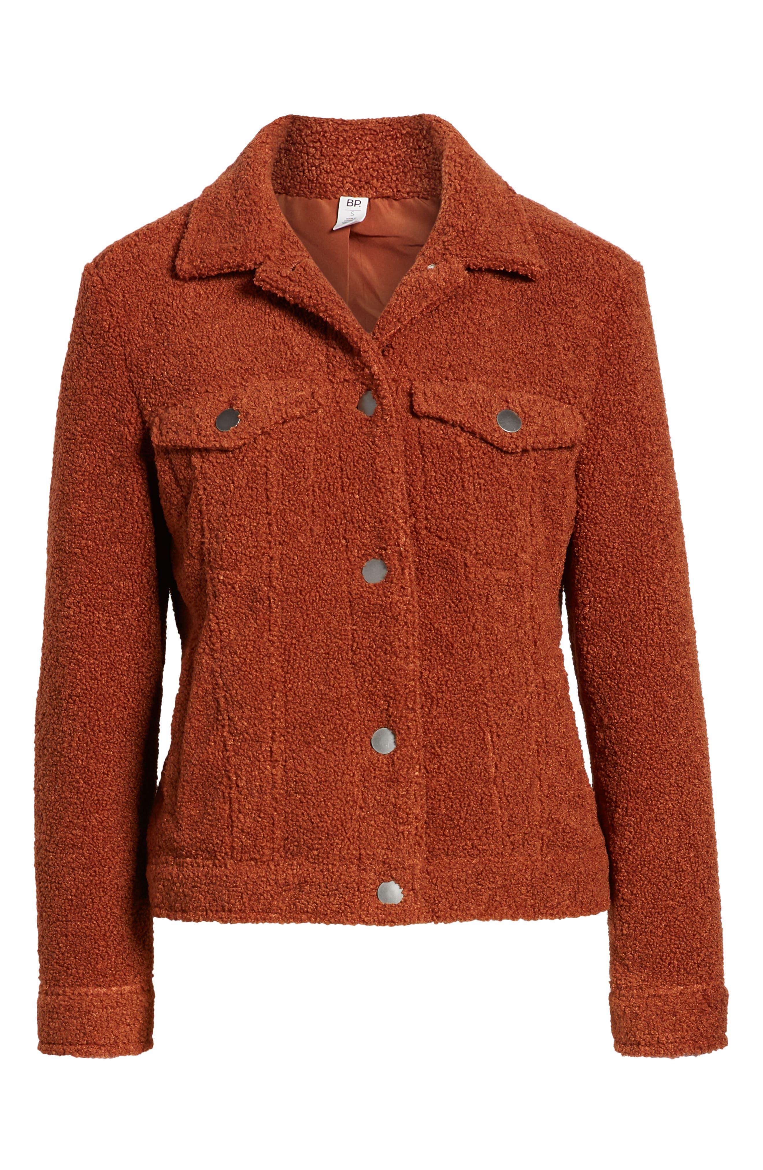 BP.,                             Faux Fur Trucker Jacket,                             Alternate thumbnail 6, color,                             221