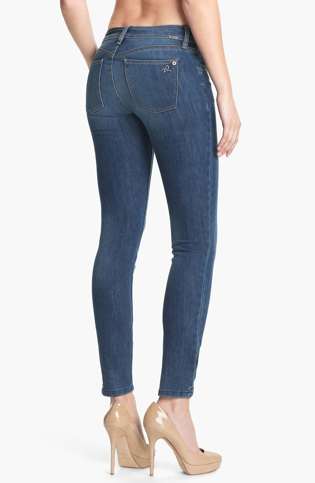 'Angel' X-Fit Stretch Denim Skinny Ankle Jeans,                             Alternate thumbnail 3, color,