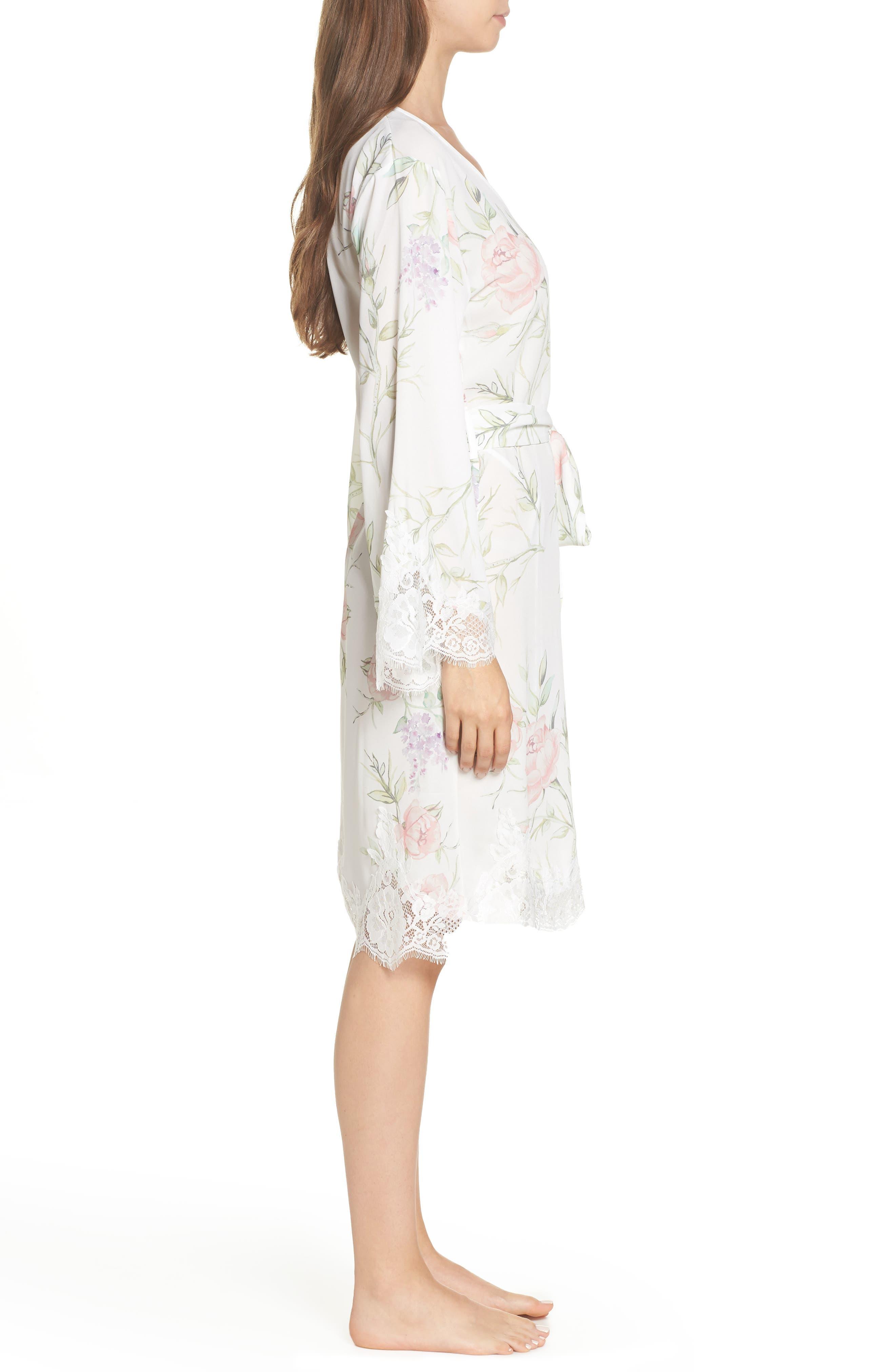 Sofia Kimono Robe,                             Alternate thumbnail 3, color,                             PURPLE FLORAL