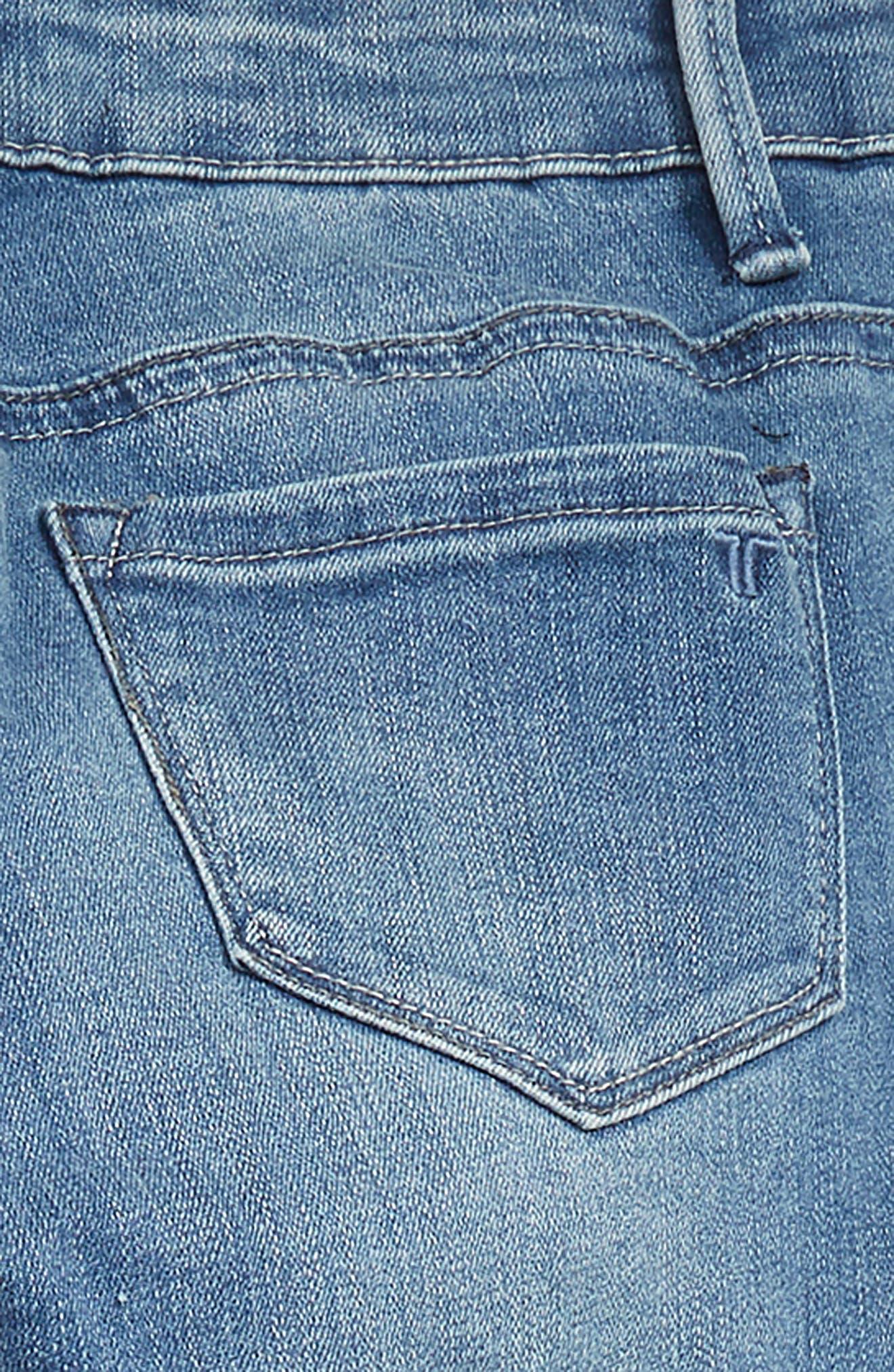 TRACTR,                             Deconstructed Eyelet Hem Skinny Jeans,                             Alternate thumbnail 3, color,                             407
