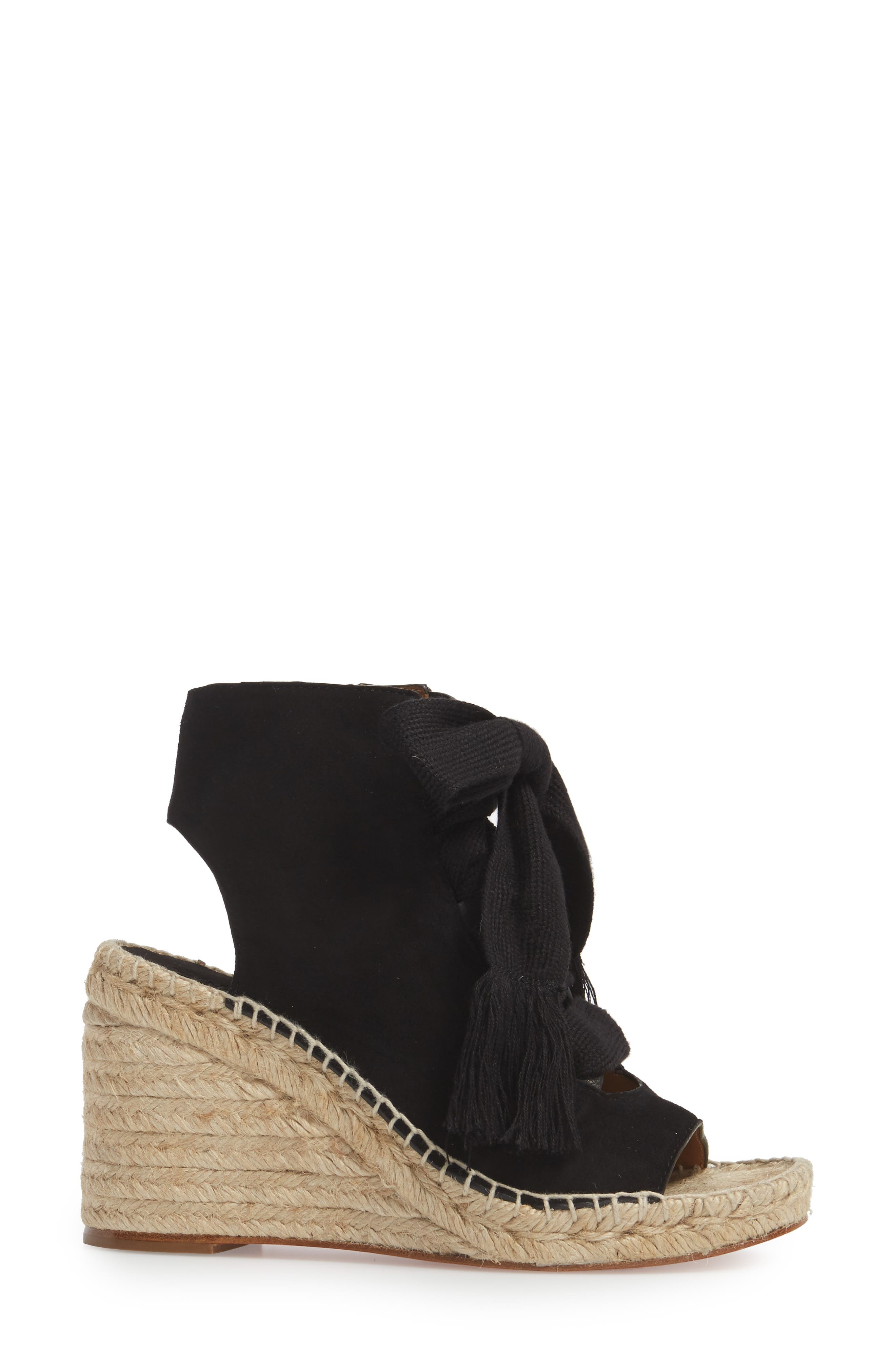 Harper Peep Toe Espadrille Bootie,                             Alternate thumbnail 5, color,
