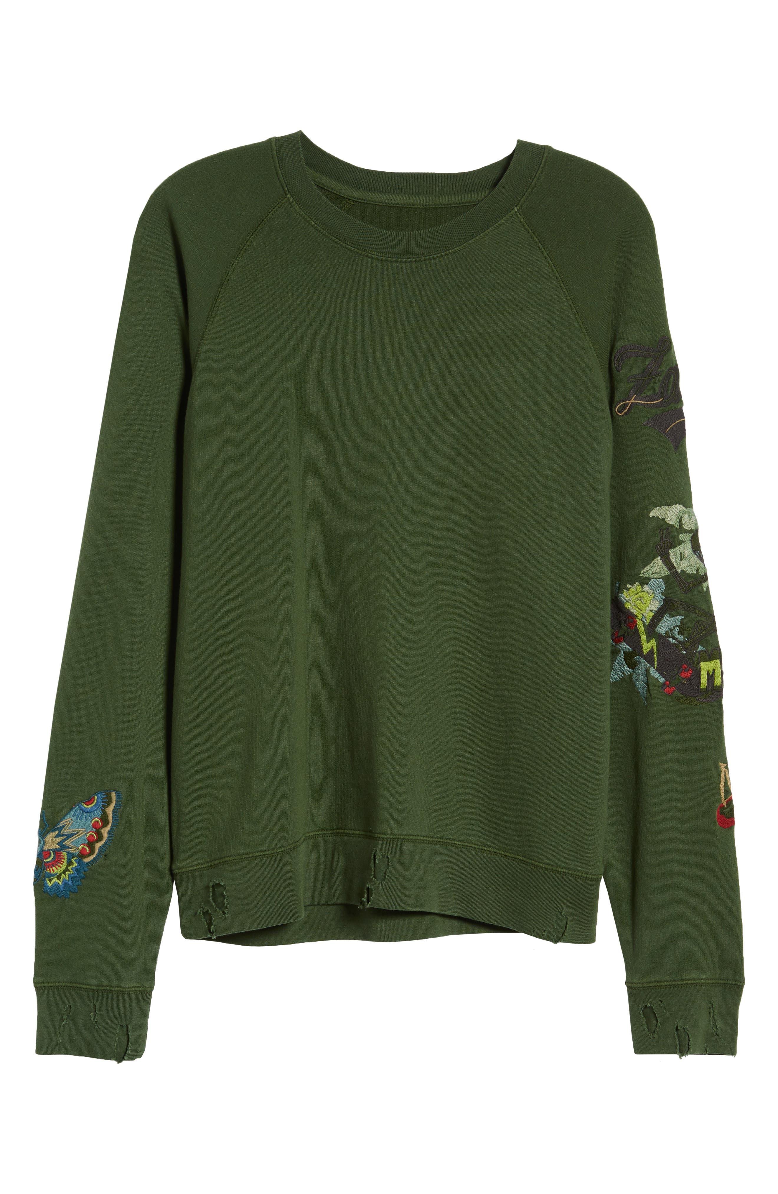 Upper Bis Brode Sweatshirt,                             Alternate thumbnail 7, color,                             340