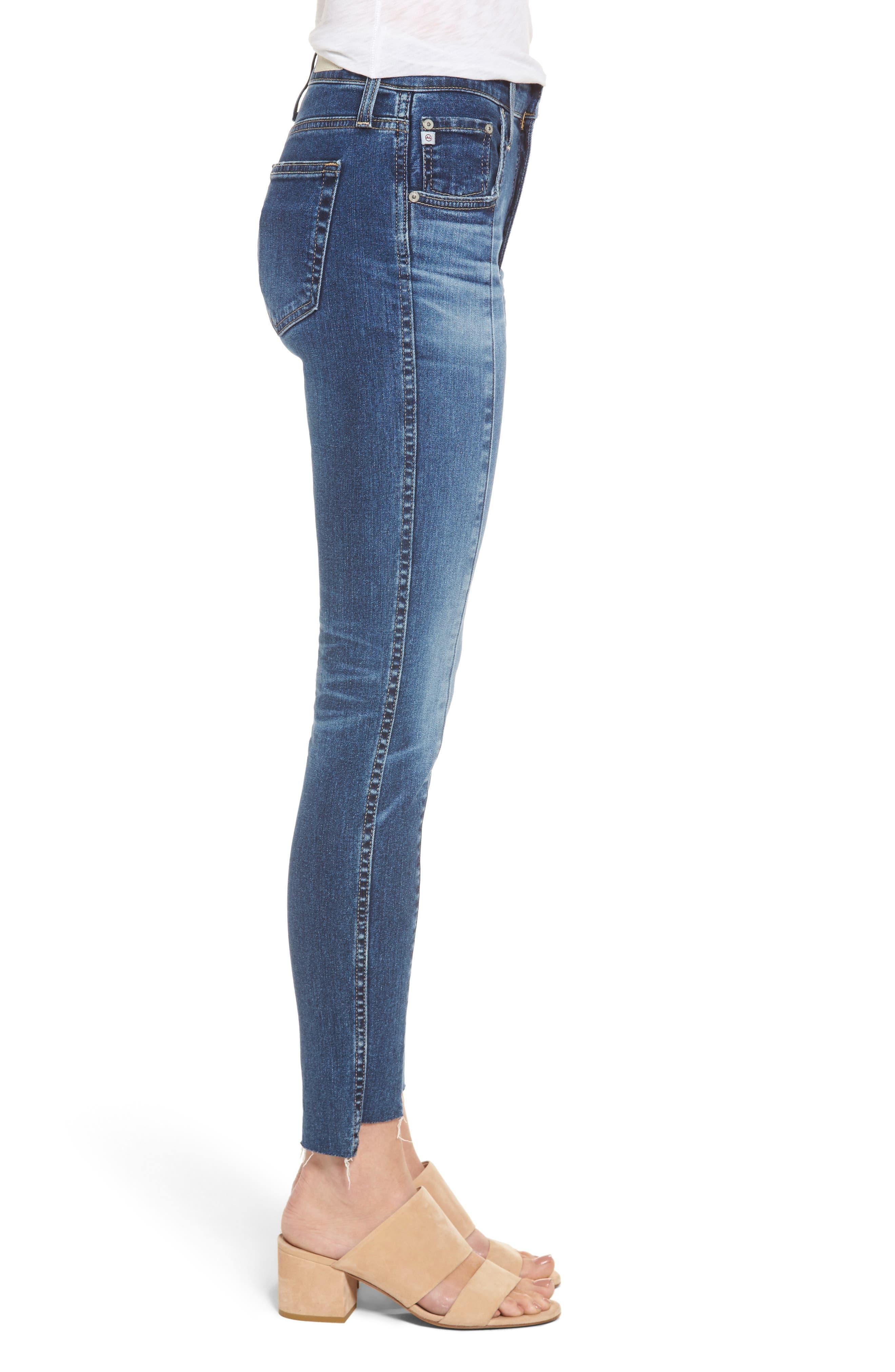 The High Rise Farrah Ankle Skinny Jeans,                             Alternate thumbnail 3, color,                             458