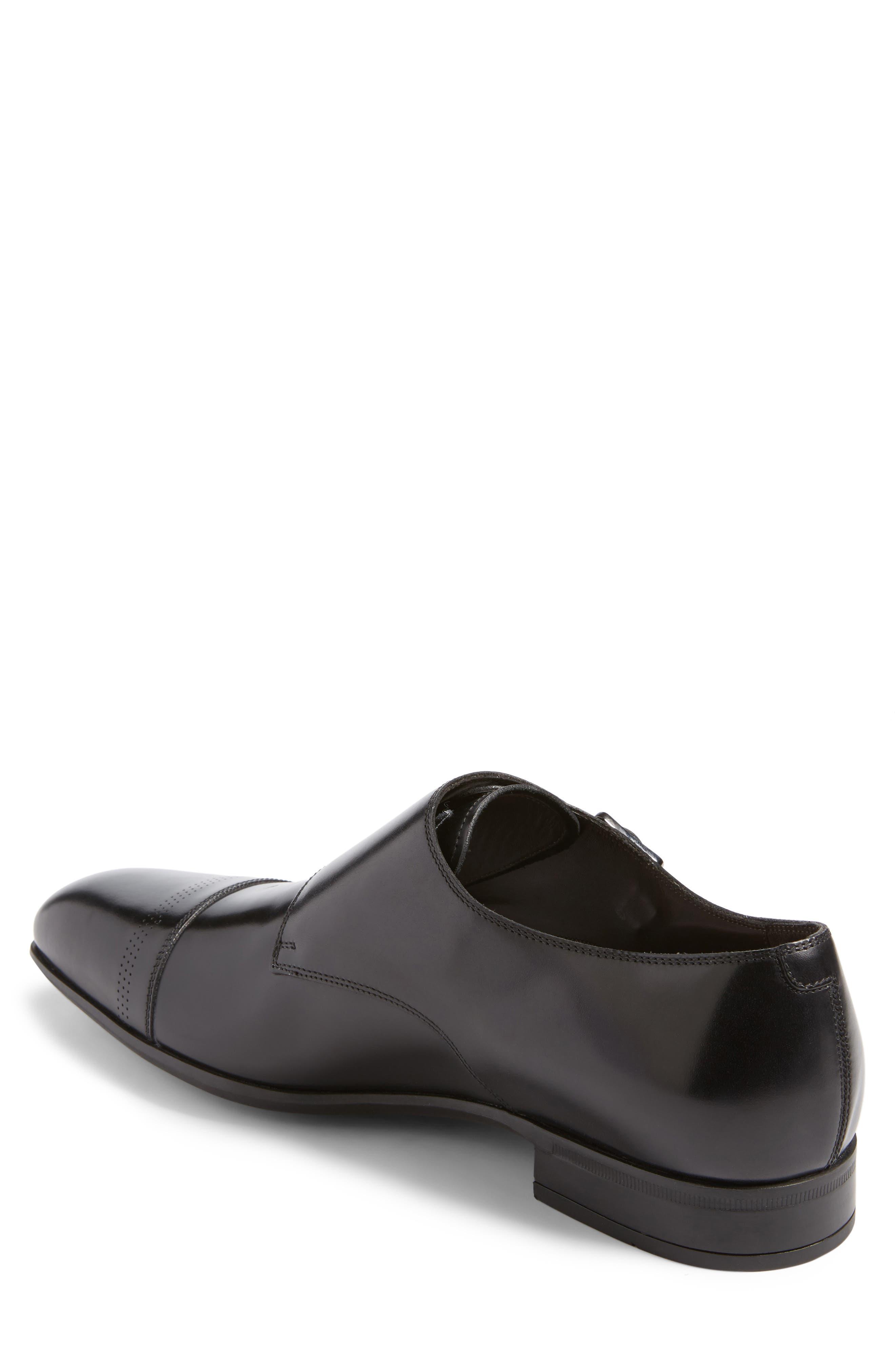 Defoe Double Monk Strap Shoe,                             Alternate thumbnail 2, color,                             001