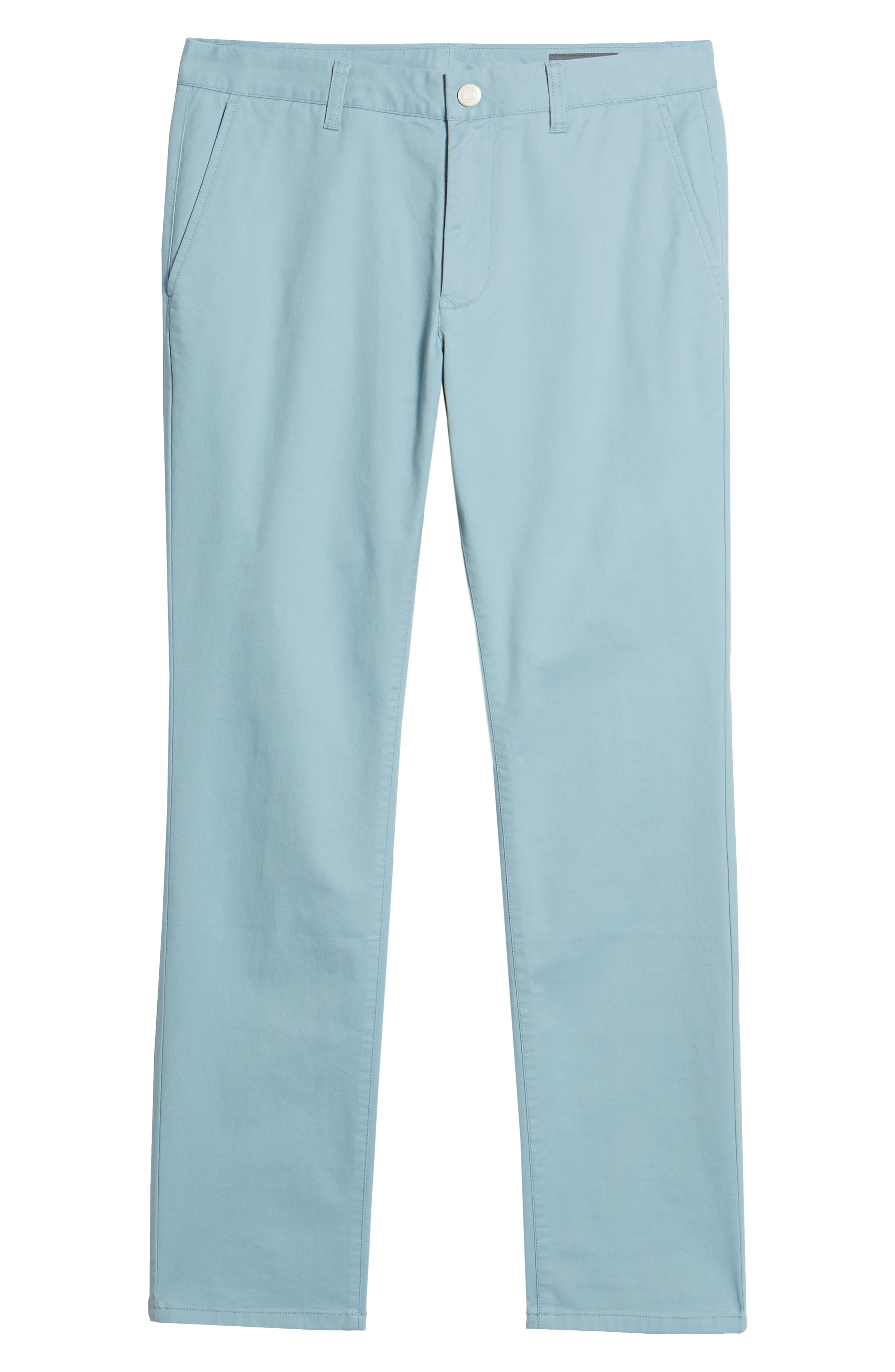 Tailored Fit Washed Stretch Cotton Chinos,                             Alternate thumbnail 186, color,