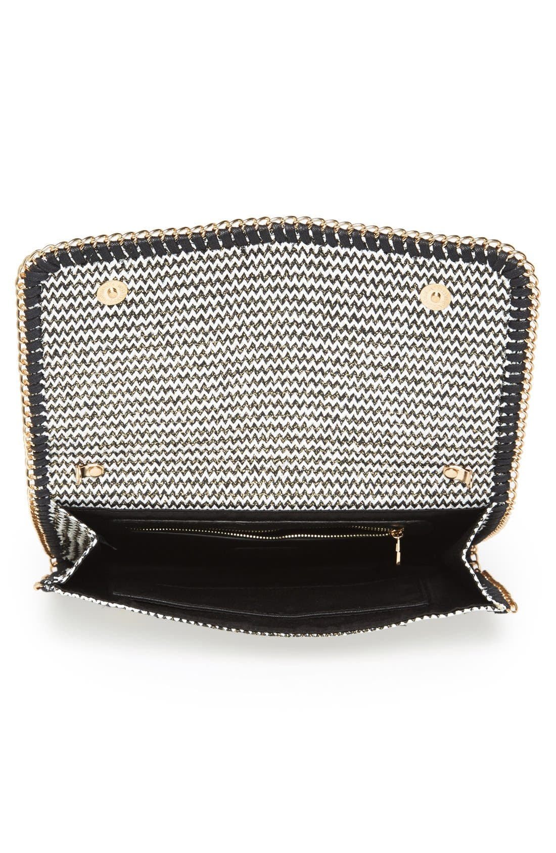 PHASE 3,                             'Zigzag' Chain Clutch,                             Alternate thumbnail 4, color,                             001