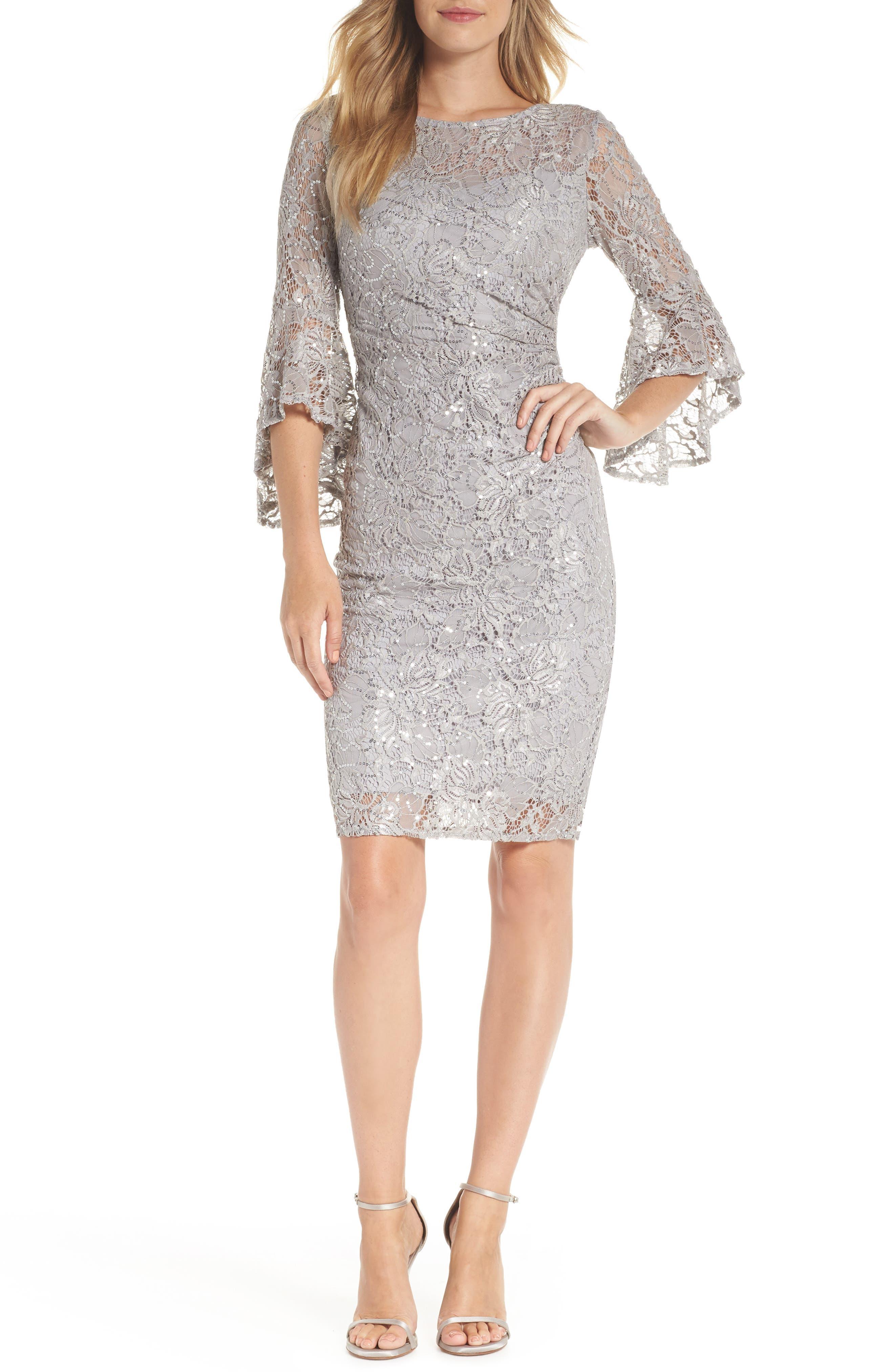 MORGAN & CO.,                             Lace Sheath Dress,                             Main thumbnail 1, color,                             040