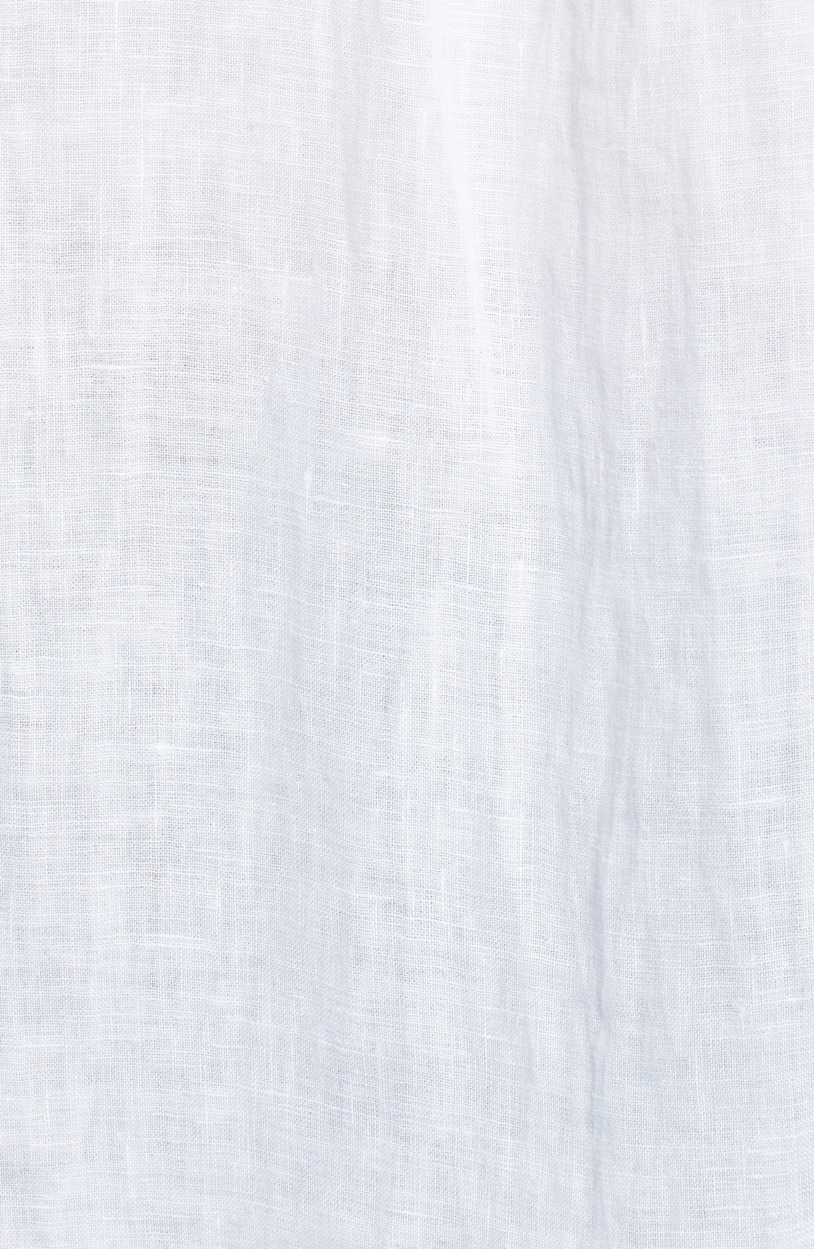 Linen Shirt,                             Alternate thumbnail 5, color,                             WHITE