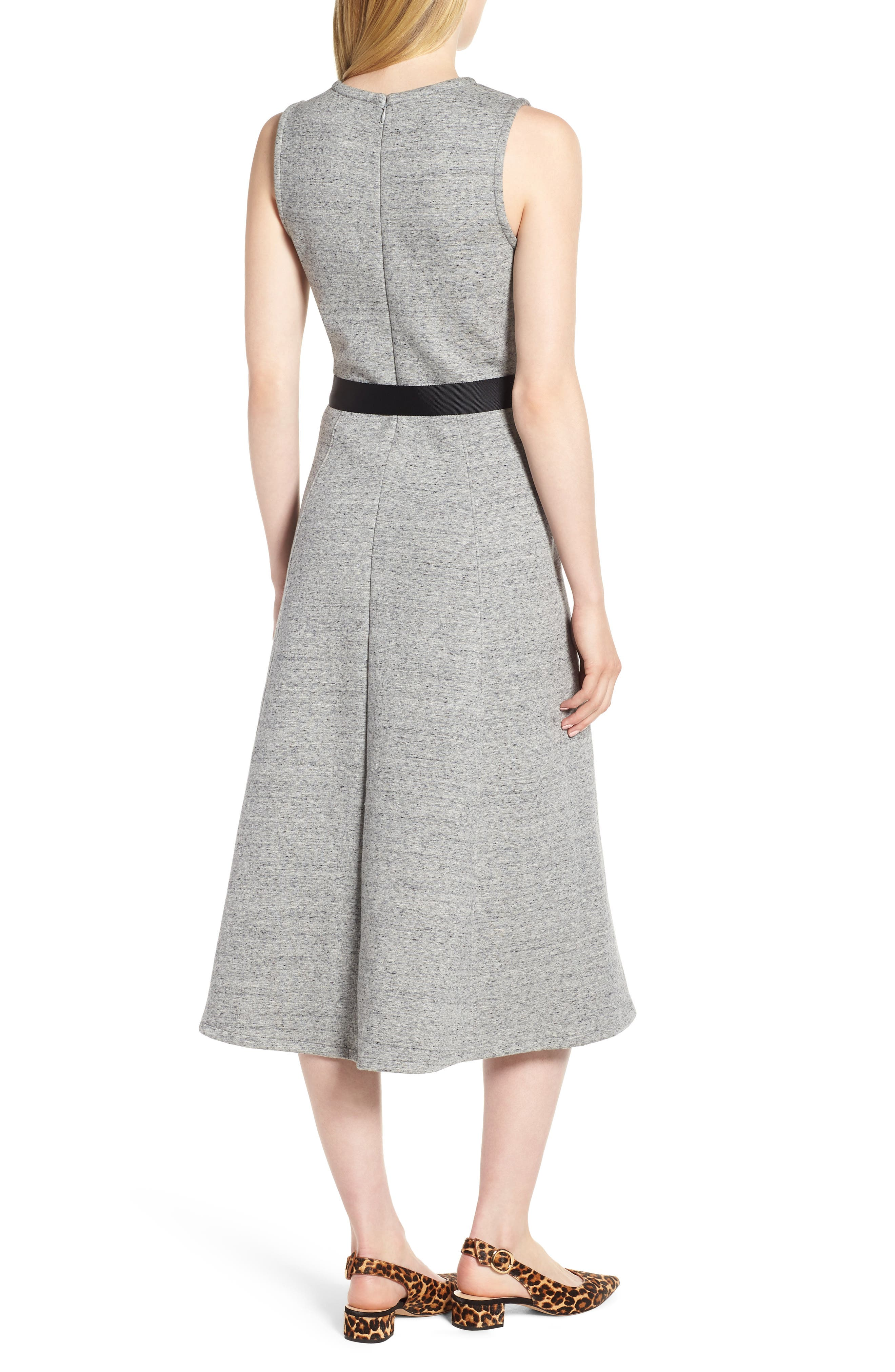 Velvet Tie A-Line Dress,                             Alternate thumbnail 2, color,                             020