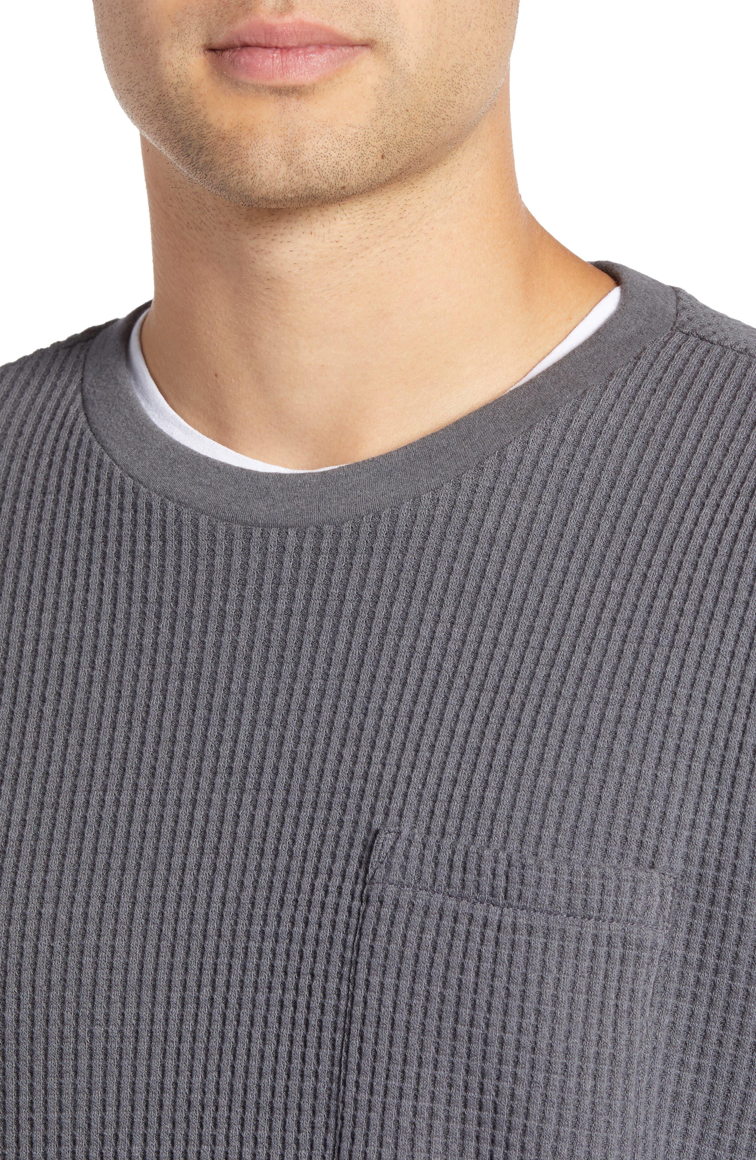 Regular Fit Thermal T-Shirt,                             Alternate thumbnail 4, color,                             GREY TORNADO
