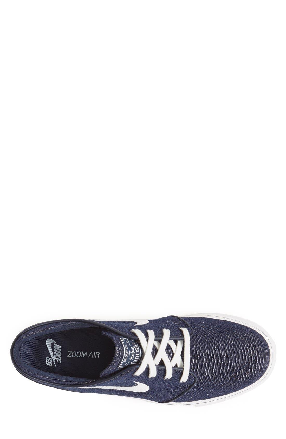 Zoom - Stefan Janoski SB Canvas Skate Shoe,                             Alternate thumbnail 75, color,