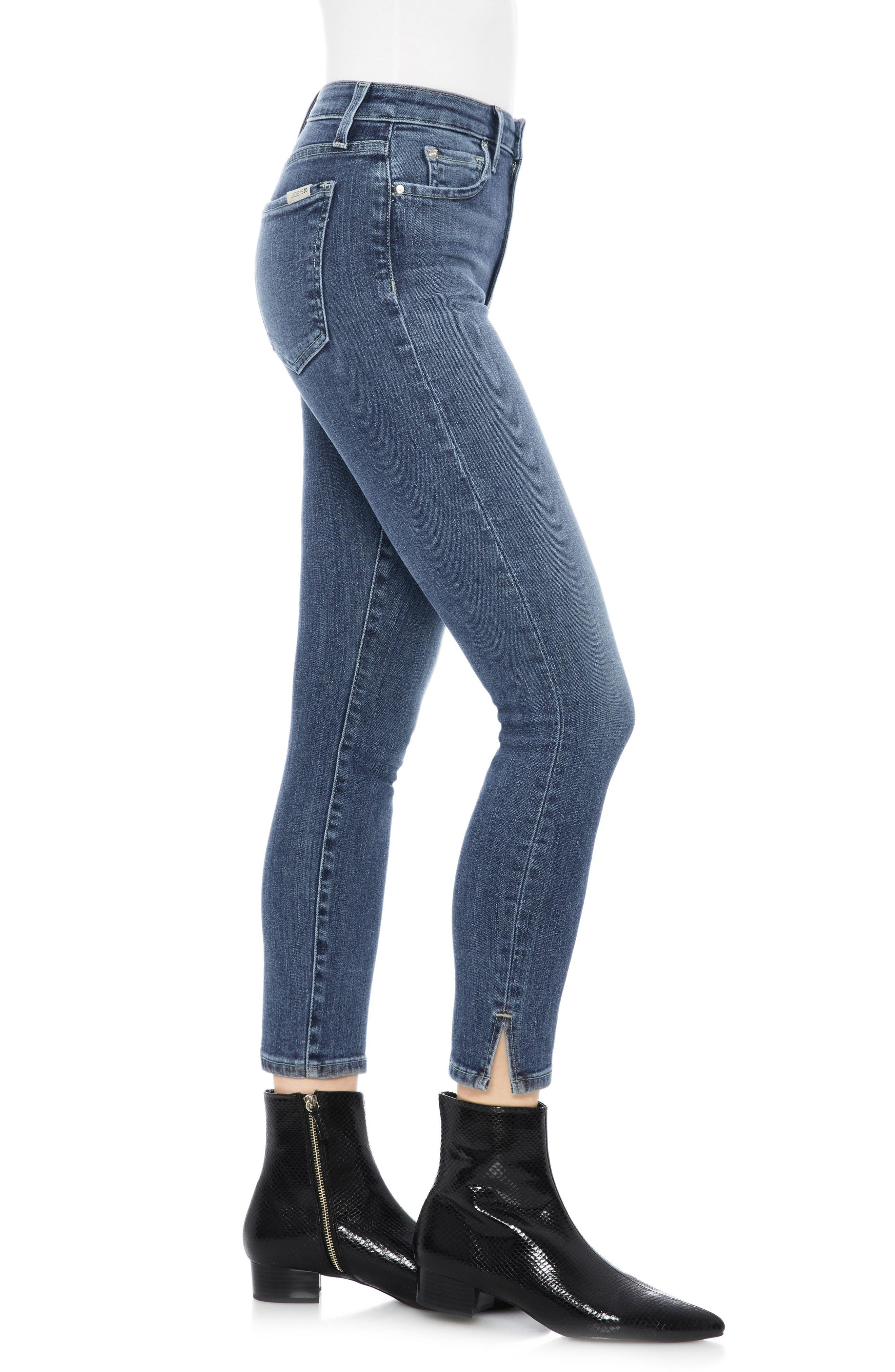 Flawless - Charlie High Waist Crop Skinny Jeans,                             Alternate thumbnail 3, color,                             ZARIA