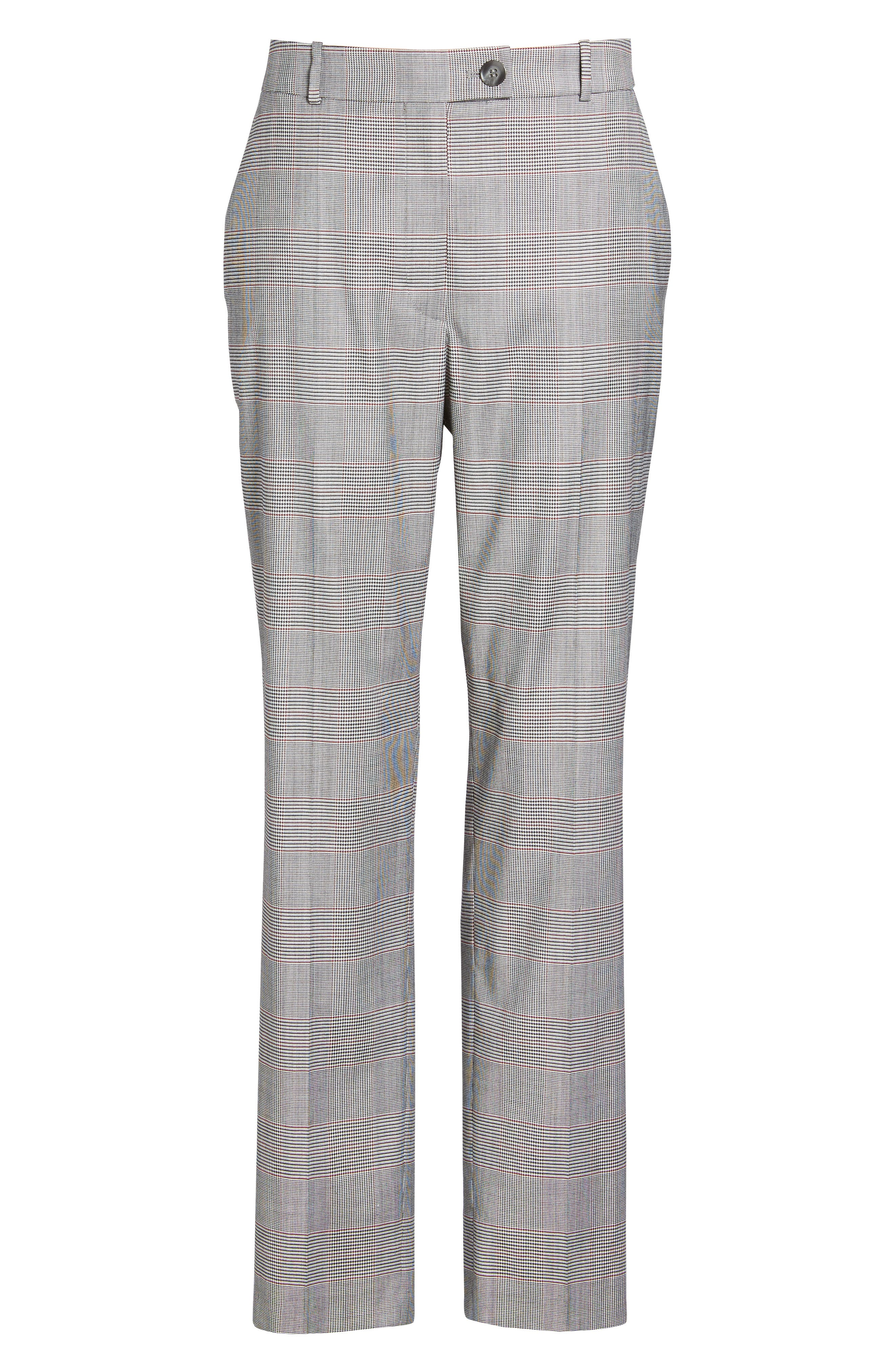 Tofilia Glencheck Slim Fit Trousers,                             Alternate thumbnail 7, color,                             874